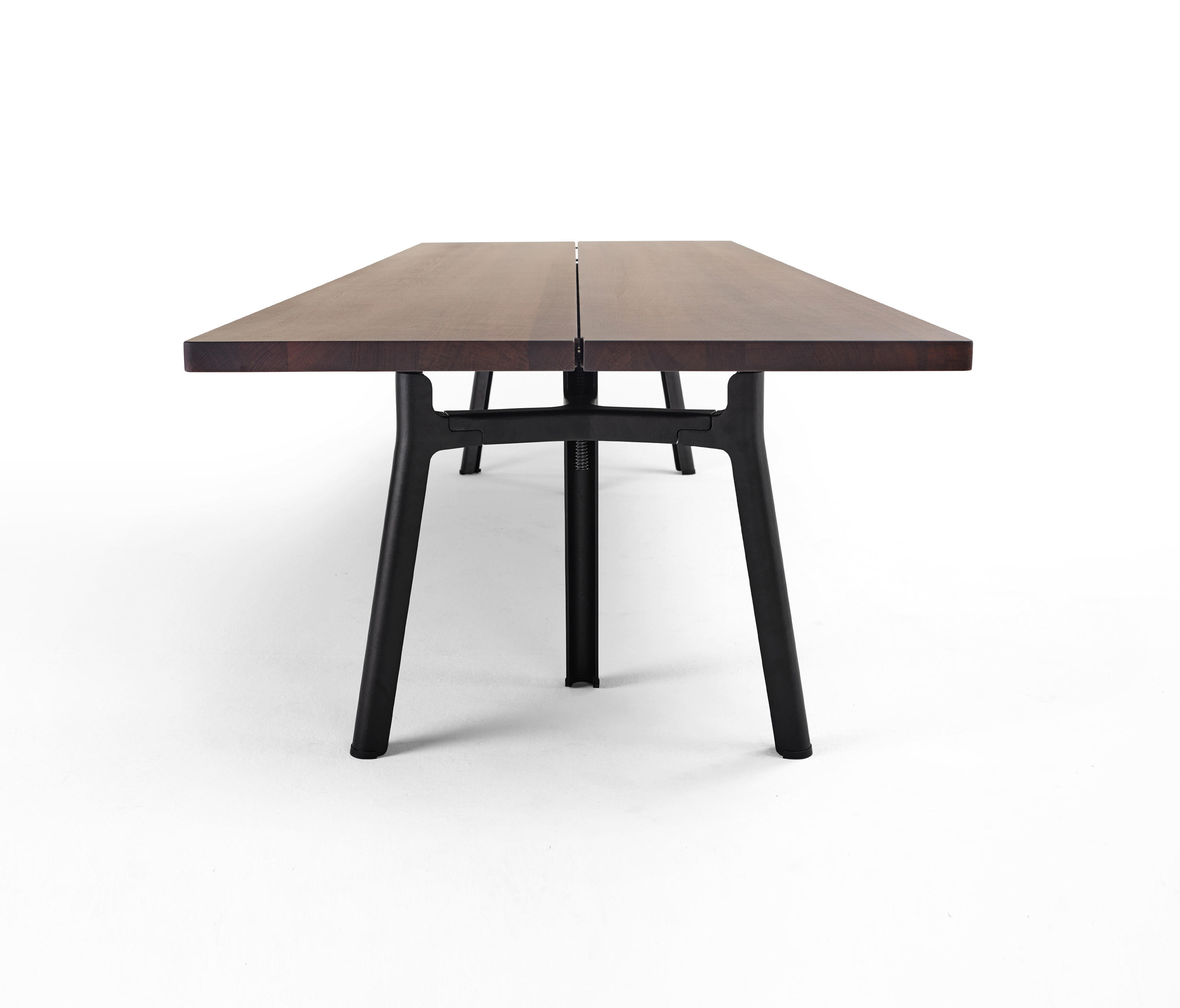 dining tables metal stanton wood work furniture desk room trestle table dering lee industrial hall