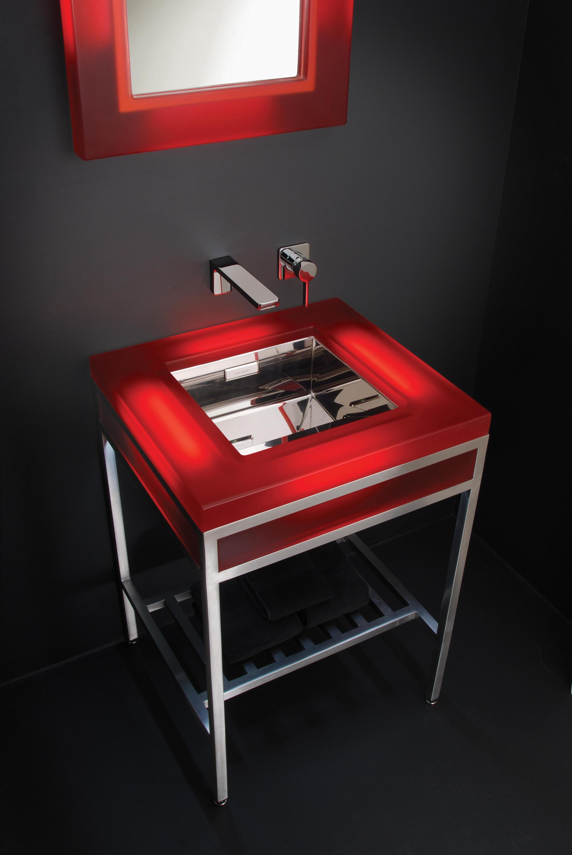 Ebb concept cast resin console featuring ebb basin for Code meubles concept