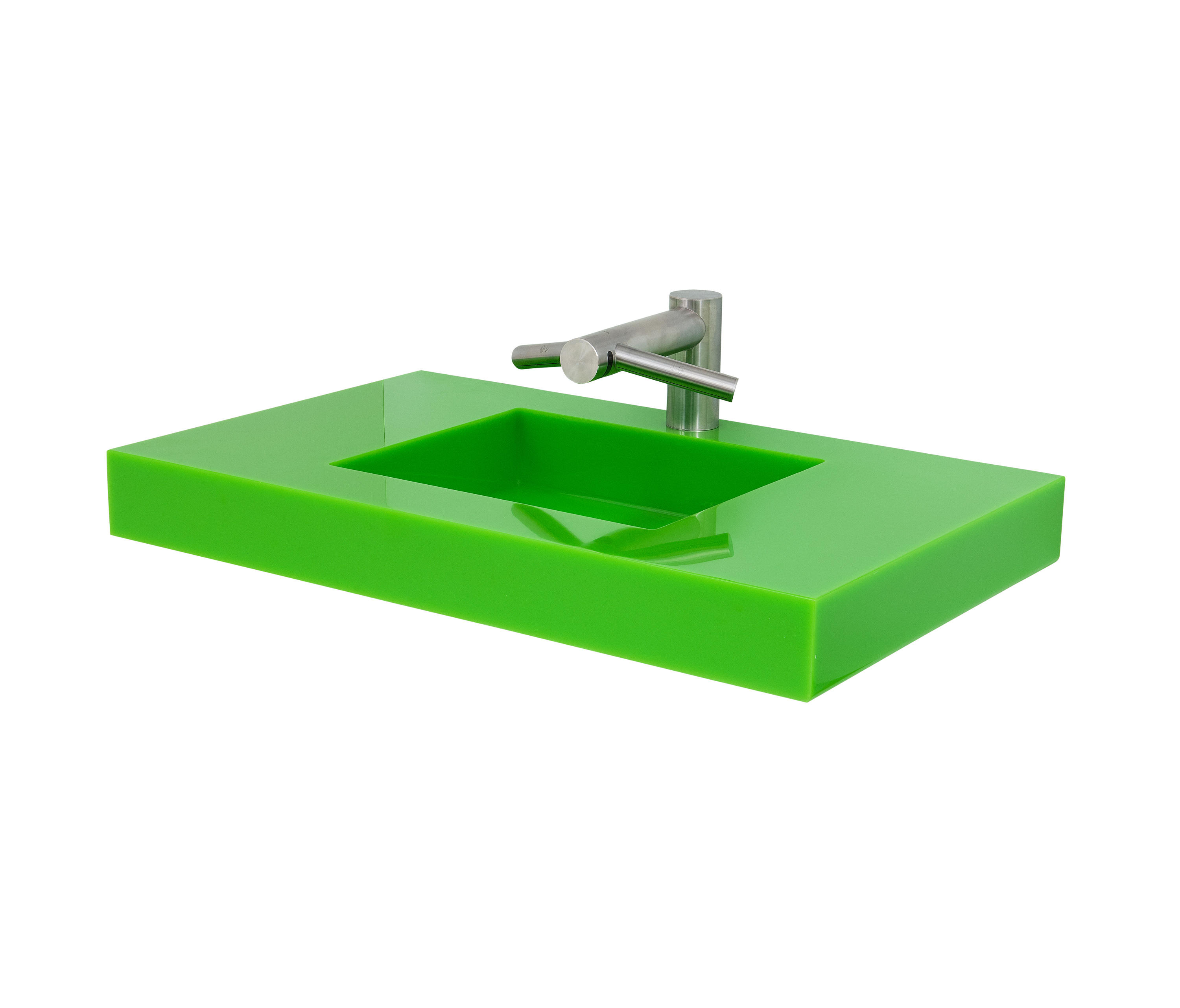 SLAB WALL MOUNTED CAST SOLID SURFACE DECK - Wash basins from Neo ...