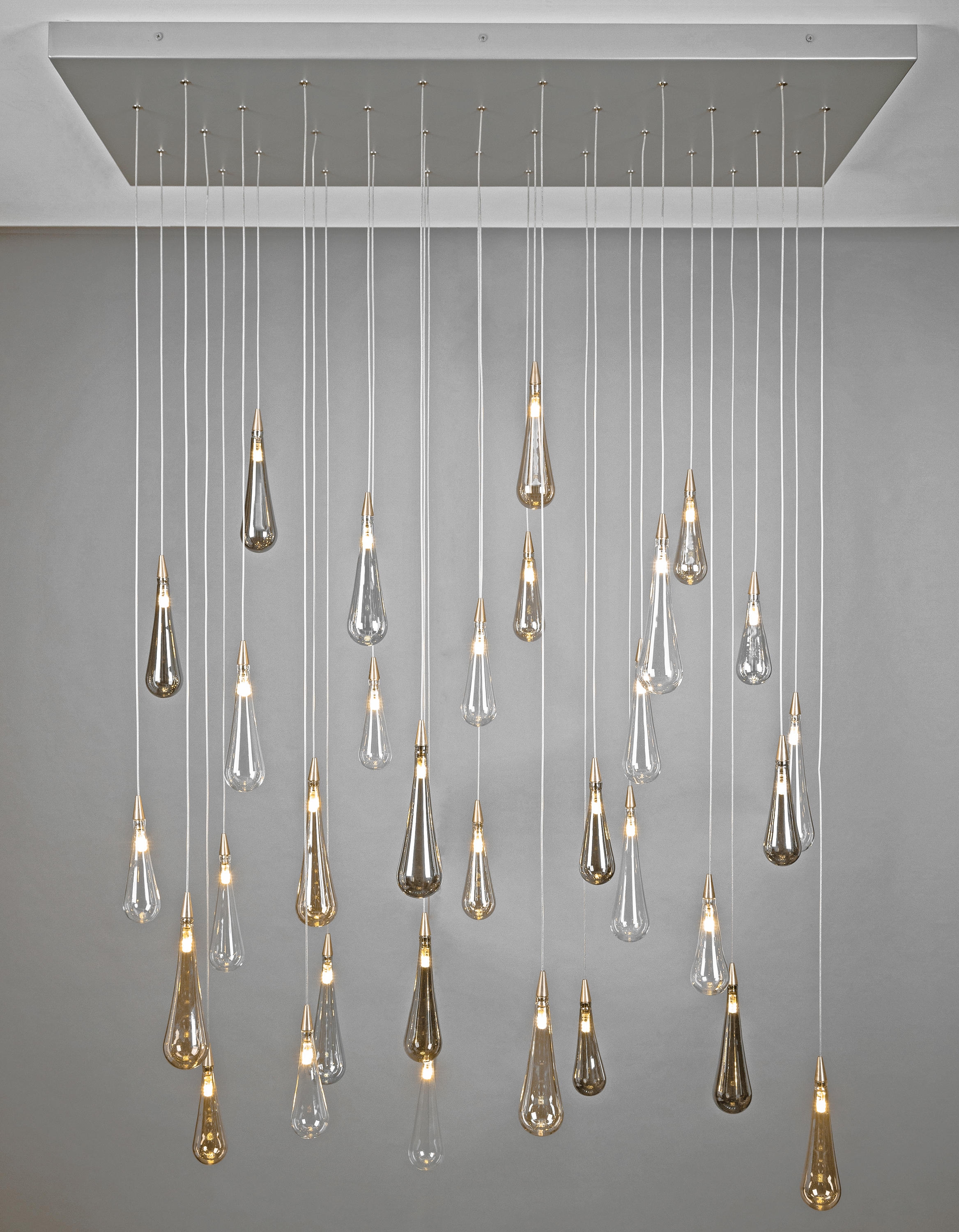 Rain Drop Suspended Lights From Shakuff Architonic