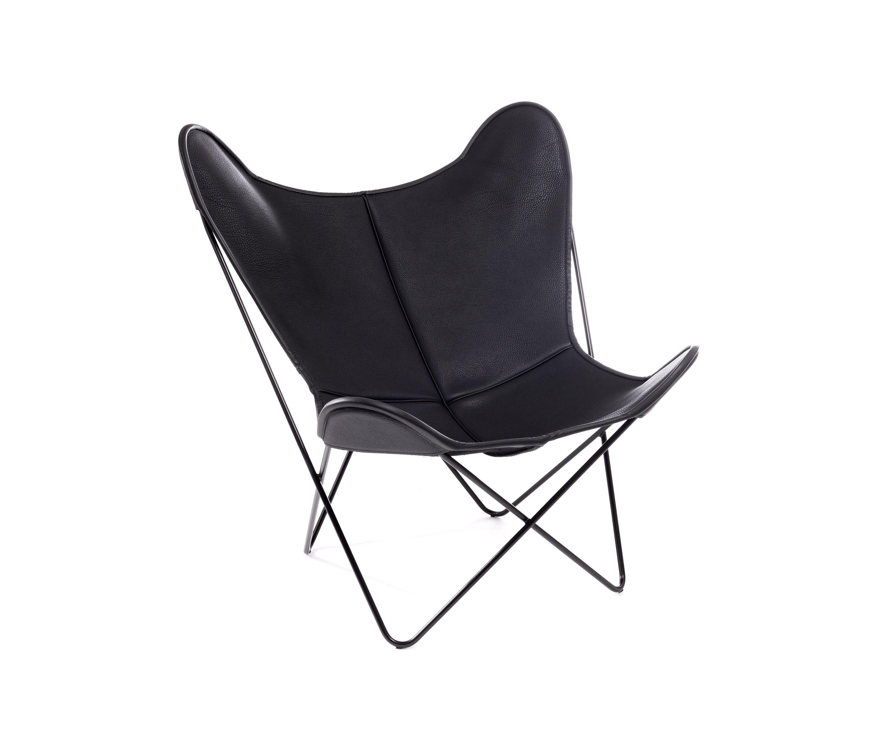 hardoy butterfly chair neck leder schwarz lounge chairs from manufakturplus architonic. Black Bedroom Furniture Sets. Home Design Ideas
