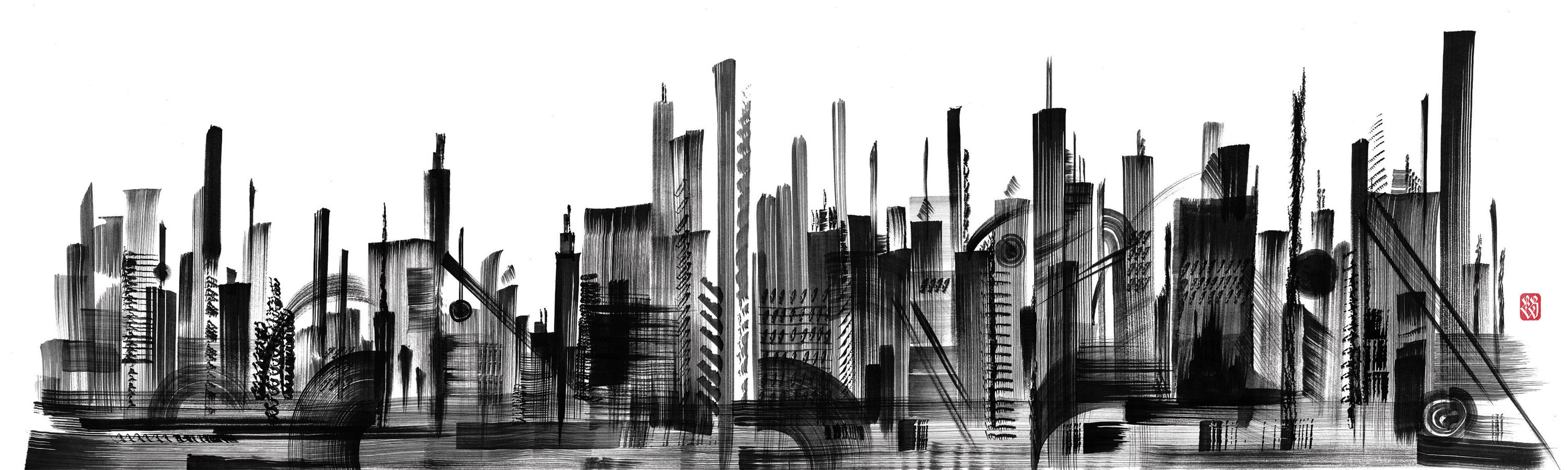 SKYLINE - Wall coverings / wallpapers from LONDONART ...