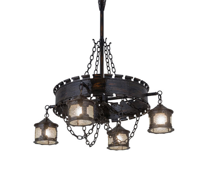 Antique Gothic Reproduction 4 Lantern Chandelier by 2nd Ave Lighting |  Suspended lights - ANTIQUE GOTHIC REPRODUCTION 4 LANTERN CHANDELIER - Suspended Lights
