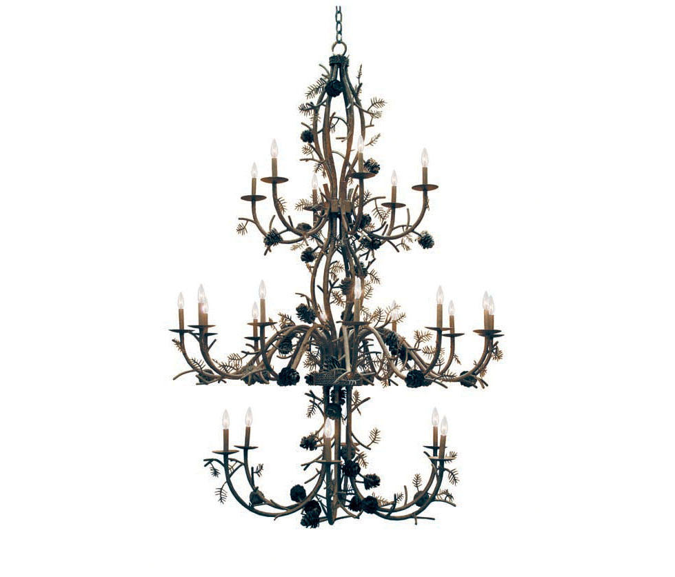 Pinecone 24 lt chandelier general lighting from 2nd ave lighting pinecone 24 lt chandelier by 2nd ave lighting general lighting arubaitofo Choice Image