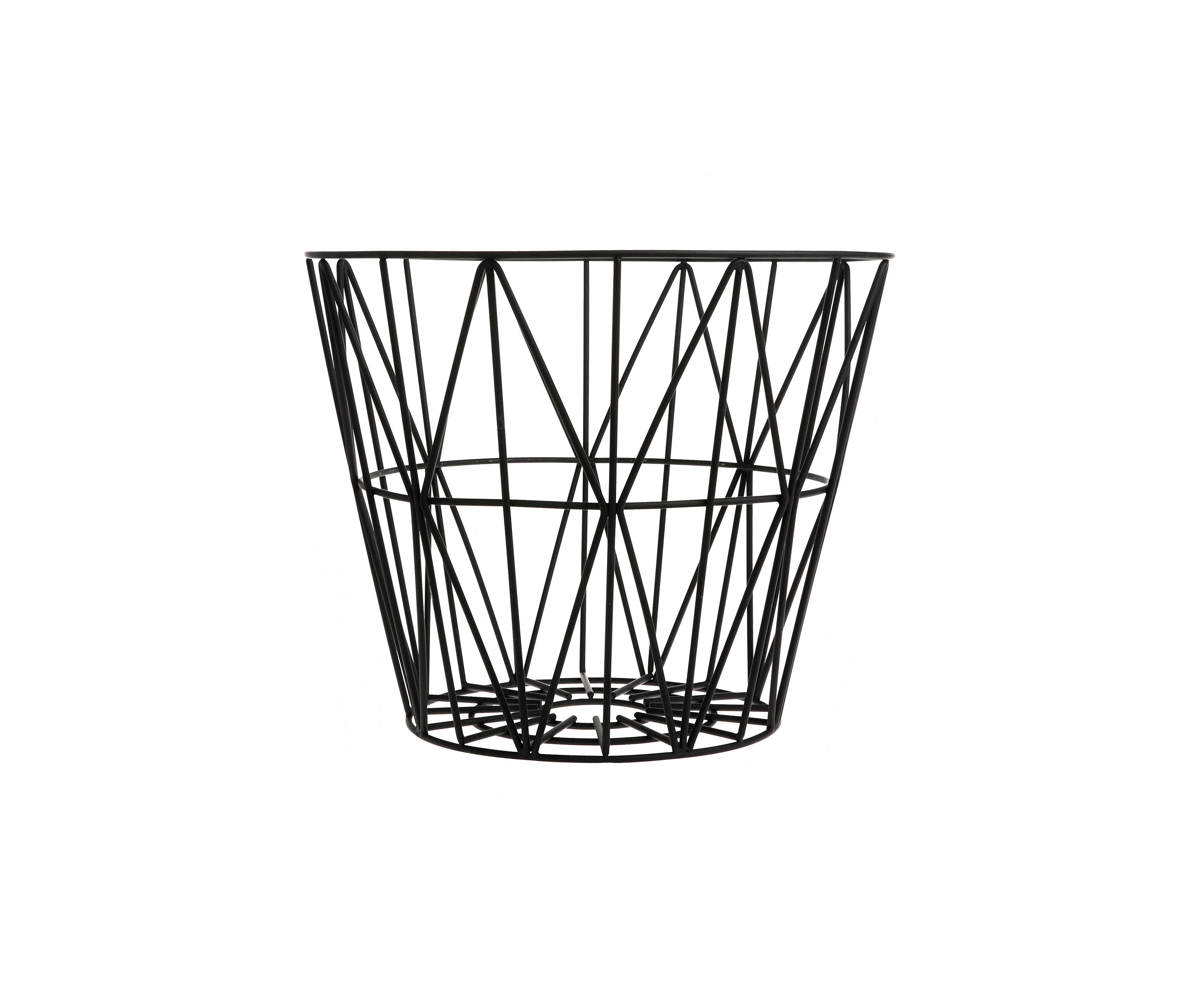 wire basket small black waste baskets from ferm living. Black Bedroom Furniture Sets. Home Design Ideas