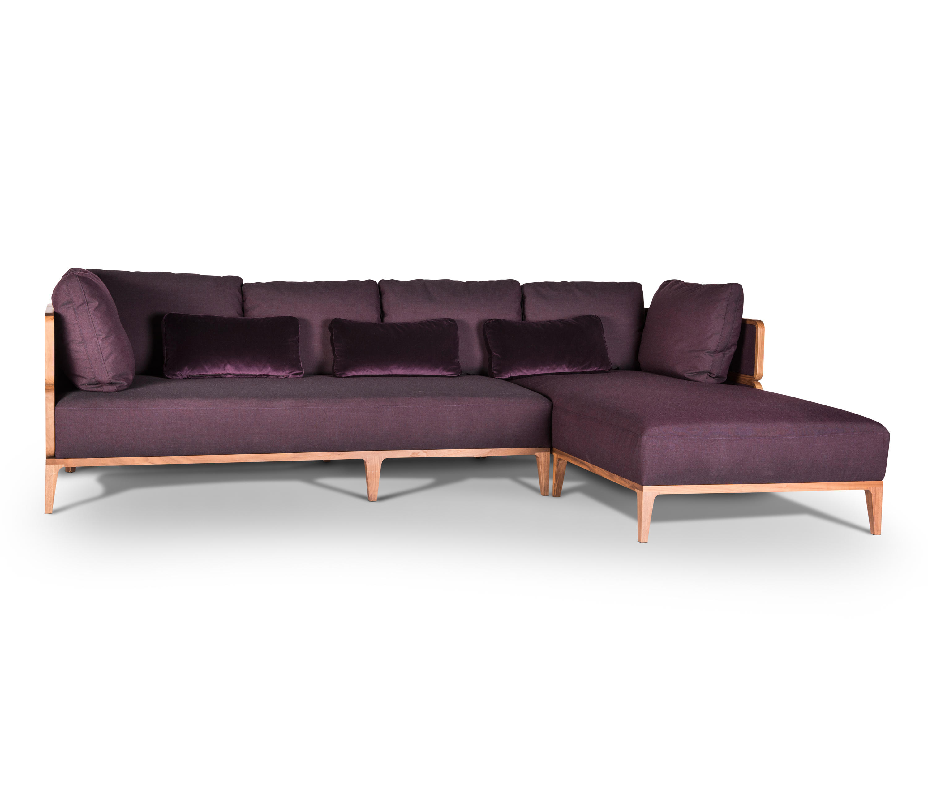 Promenade 185 with chaise longue sofas from wiener gtv for Chaise longue torino