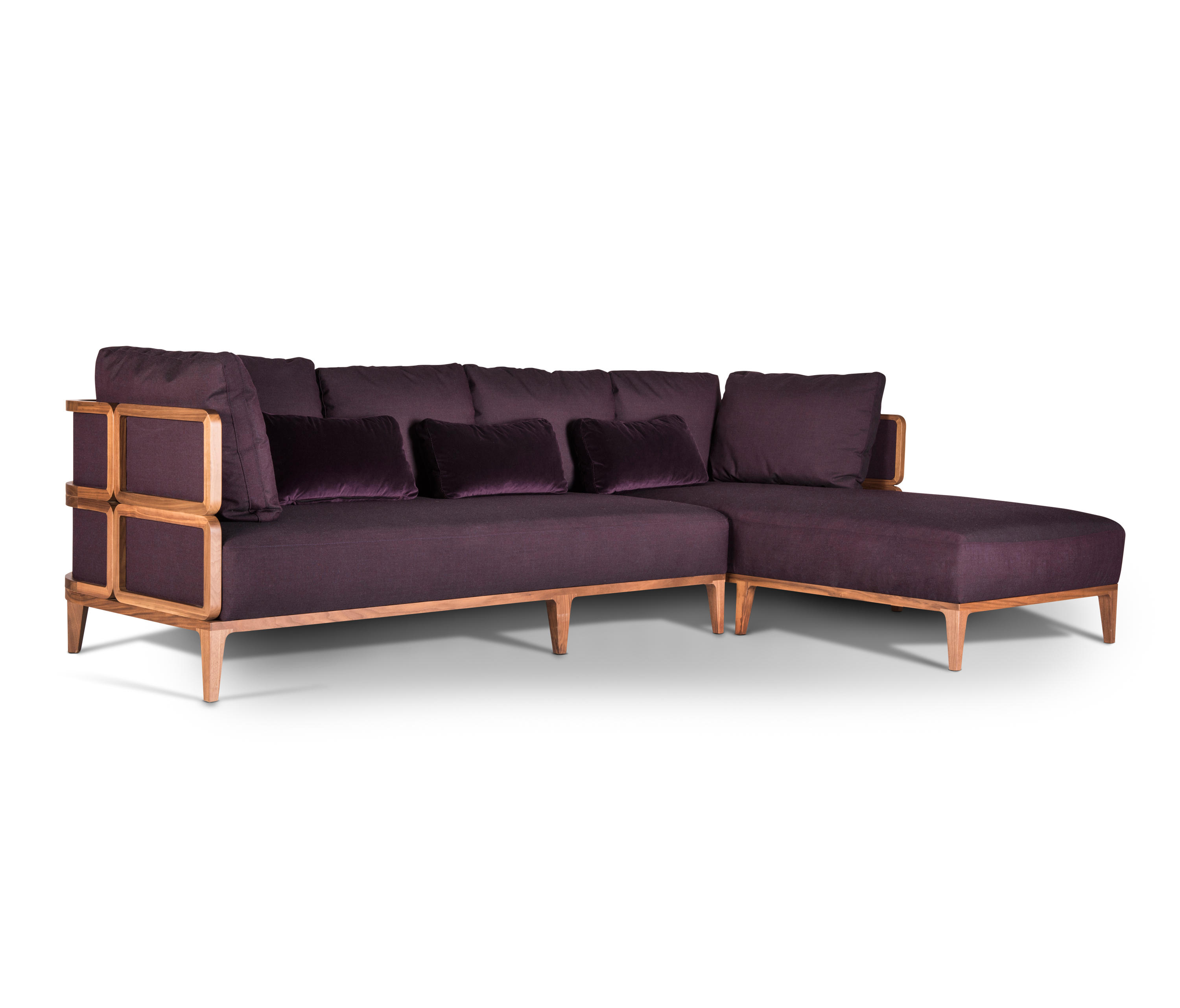 Promenade 185 with chaise longue sofas from wiener gtv for Chaise longue designer