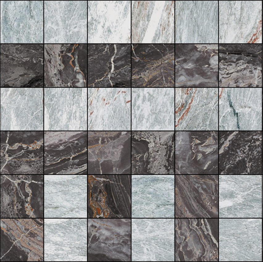 Mosaic square 6x6 type c carrelage de gani marble for Mosaica carrelage