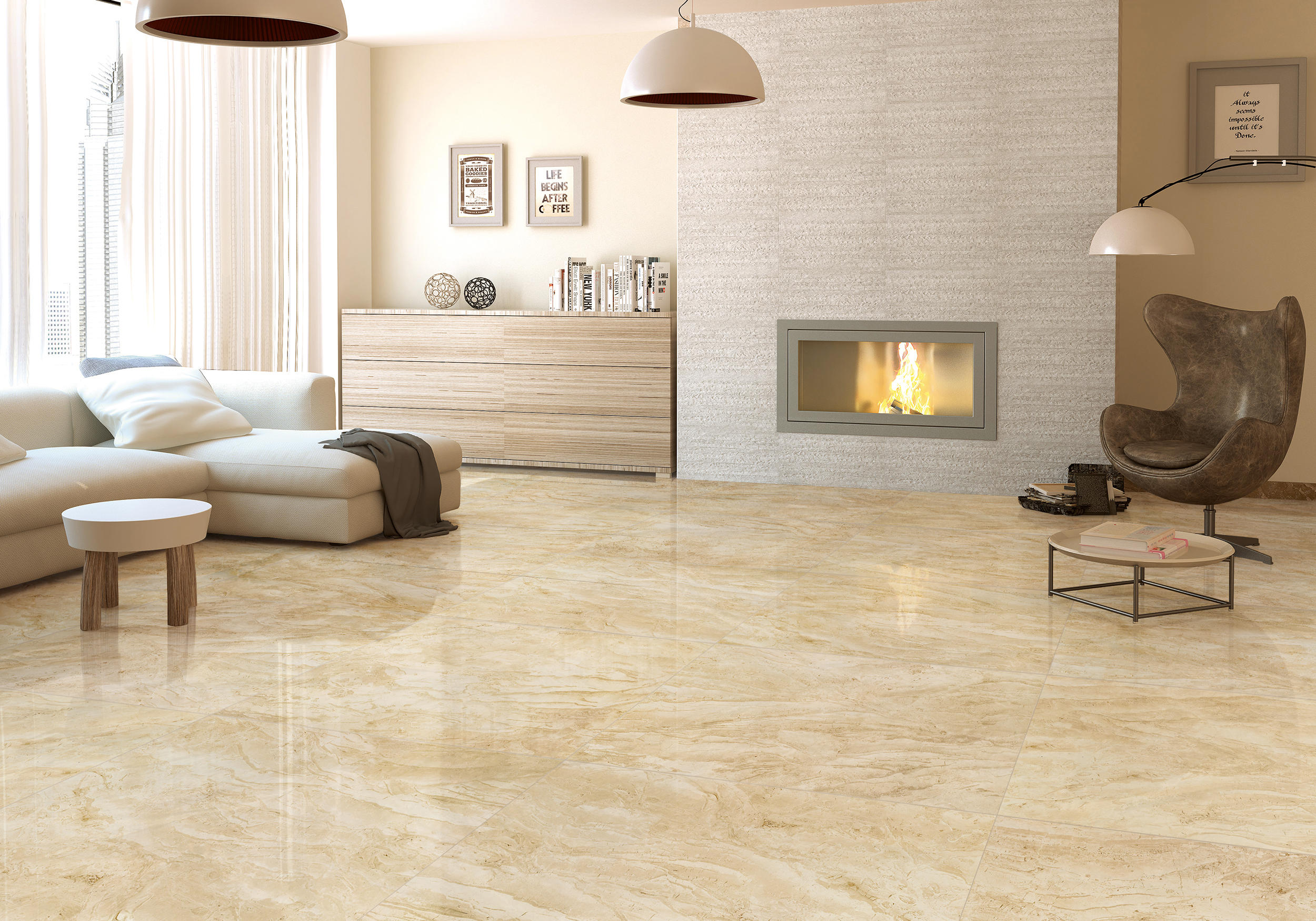 Beige Tiles For Living Room Peenmedia Com