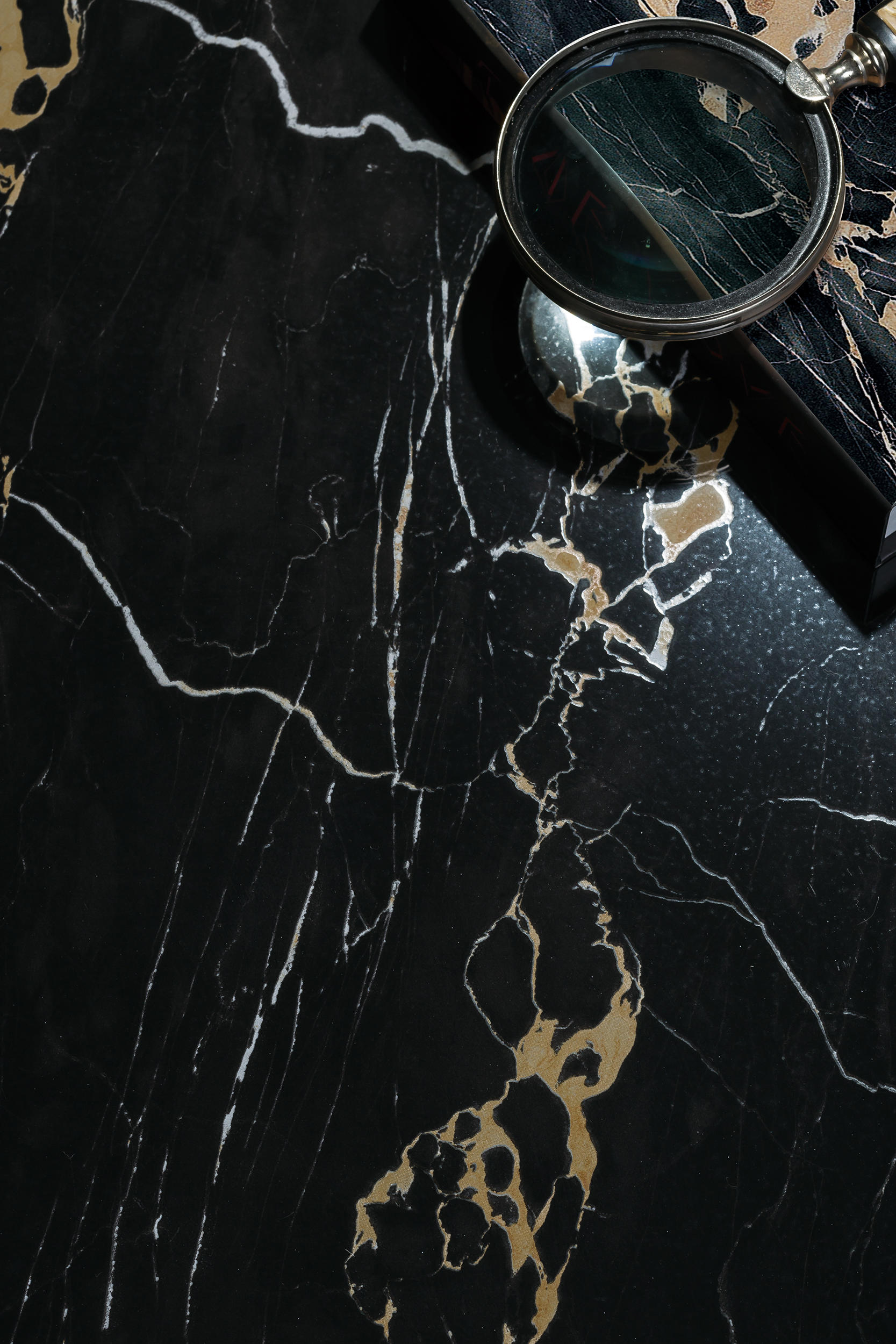 Black Italian Portoro By Gani Marble Tiles Natural Stone Panels