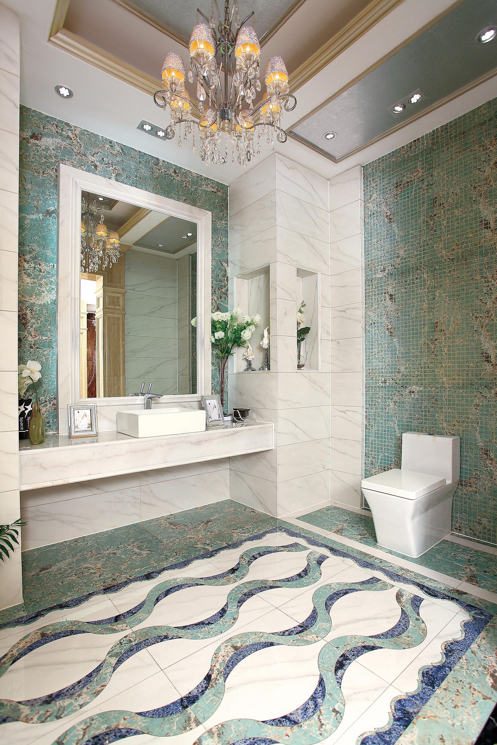 Green Marble Floor : Green amazon natural stone panels from gani