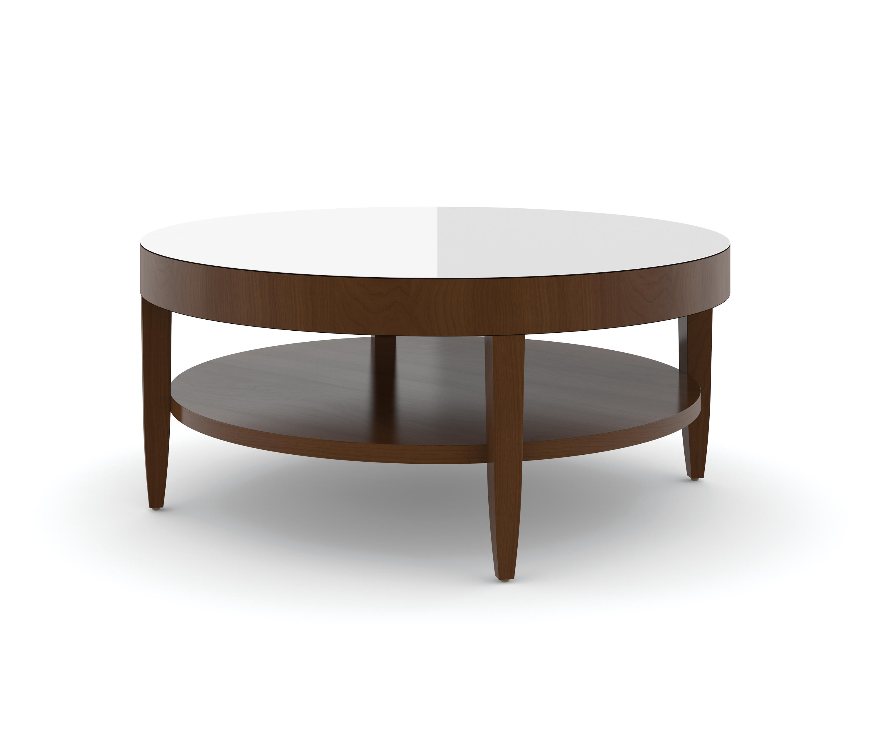 Edge table round coffee table etched tempered glass for Tempered glass coffee table