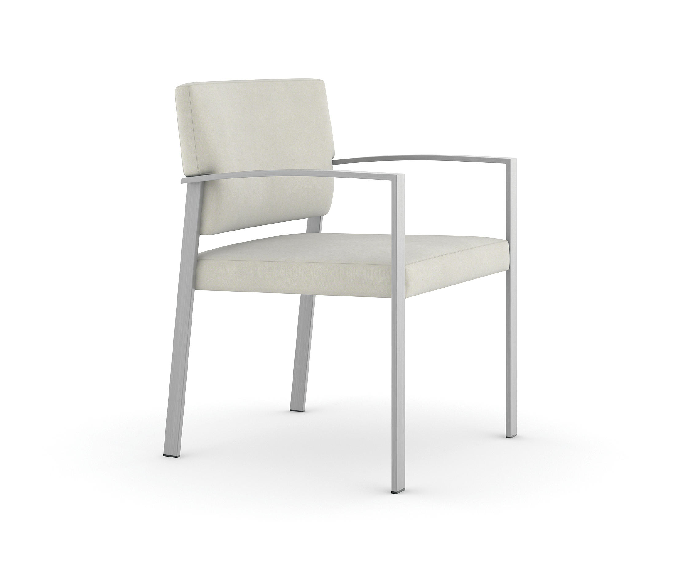 Steel Side Chair / Brushed Stainless Steel Frame By Trinity Furniture |  Elderly Care Chairs