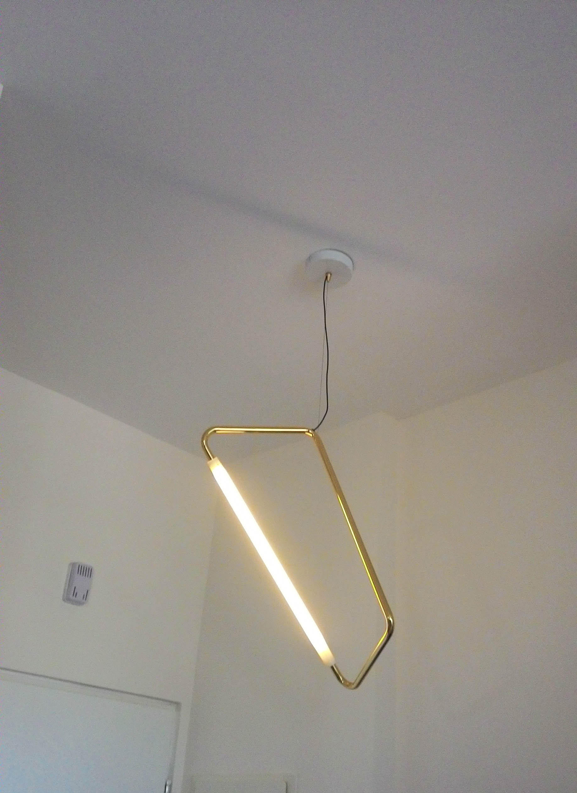 Light Object 001 Hang From Ceiling Polished Br By Naama Hofman Suspended Lights