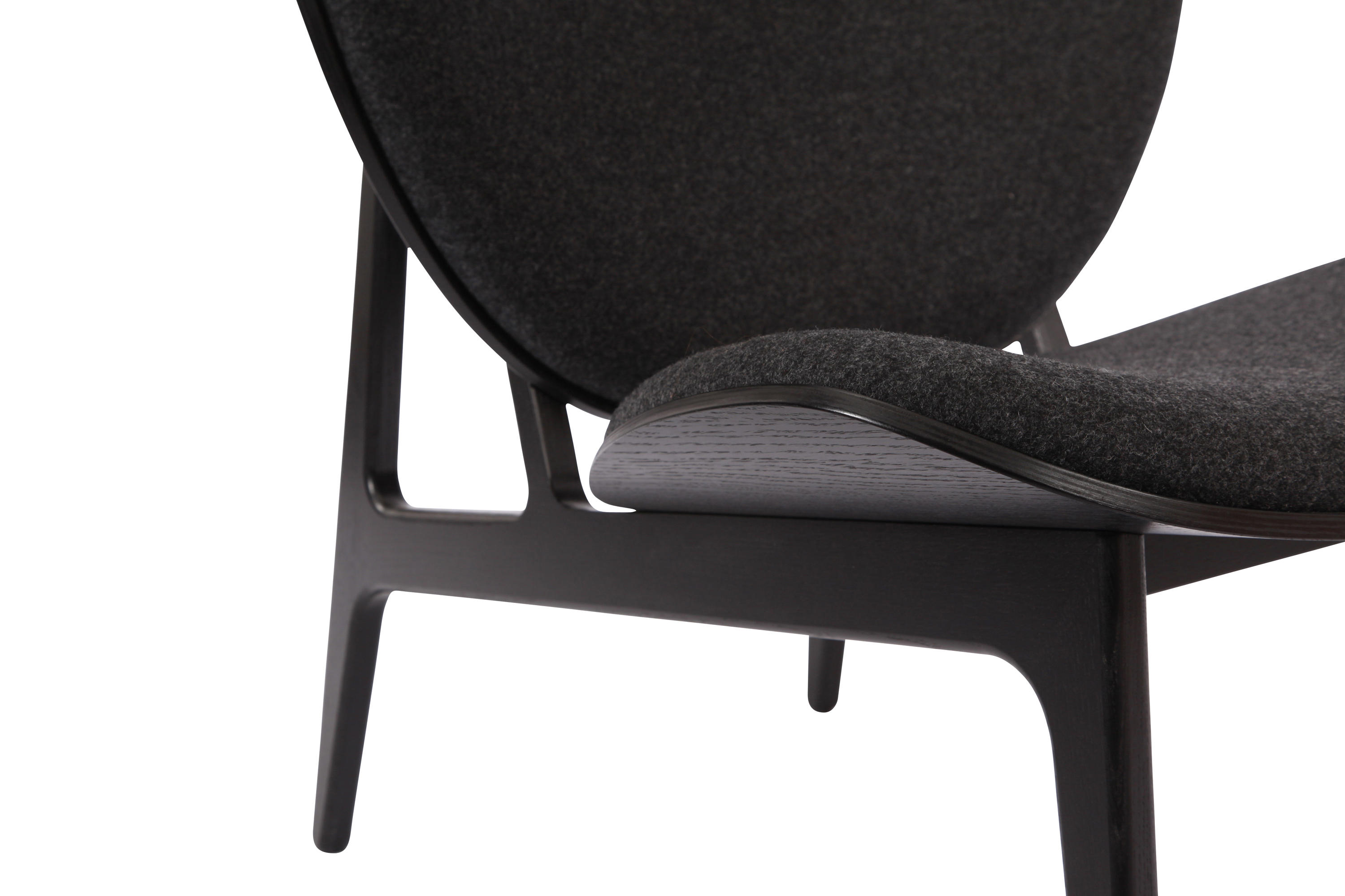 ... Elephant Chair, Black / Wool: Coal Grey 067 By NORR11 | Lounge Chairs