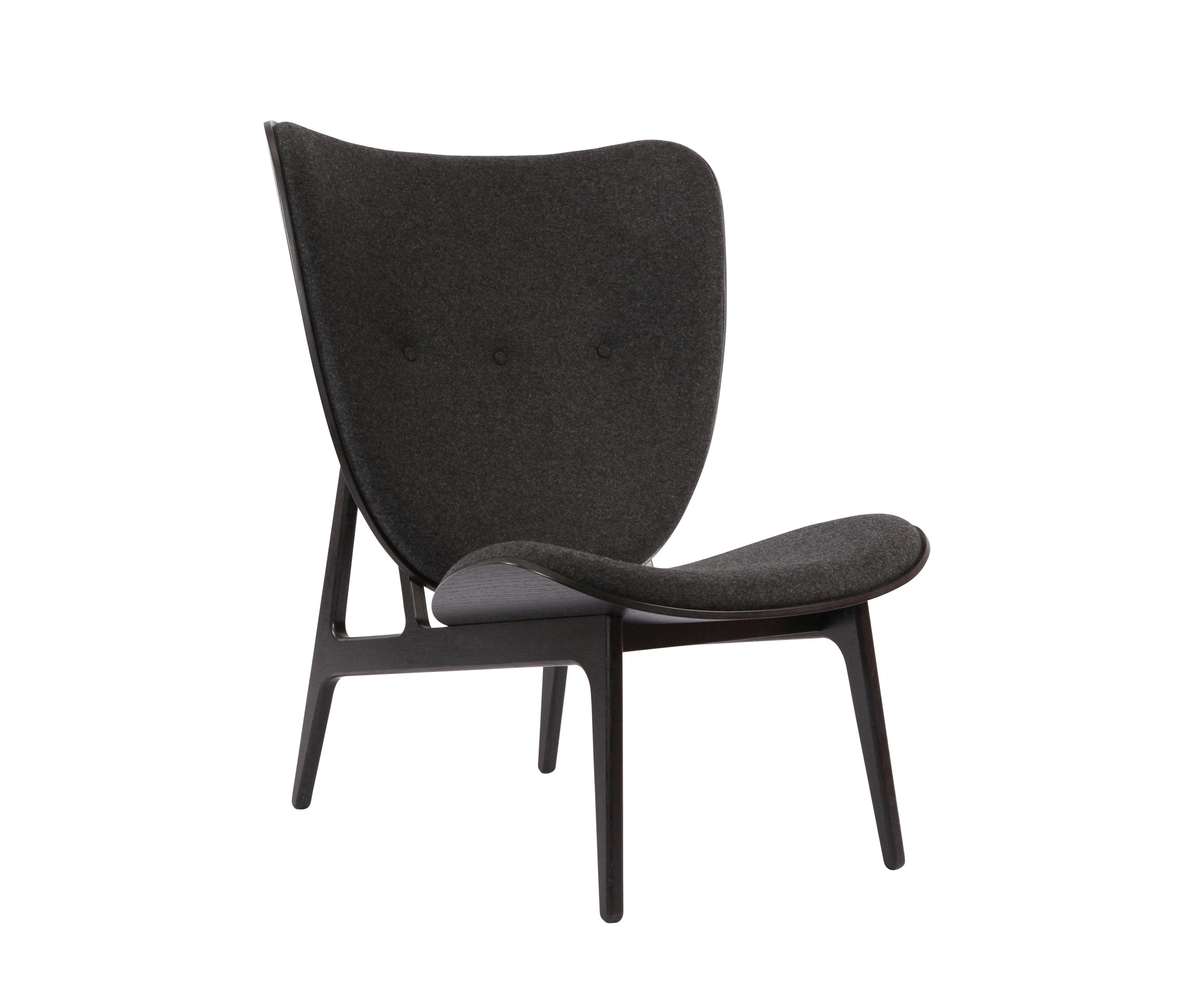 Superior Elephant Chair, Black / Wool: Coal Grey 067 By NORR11 | Lounge Chairs ...
