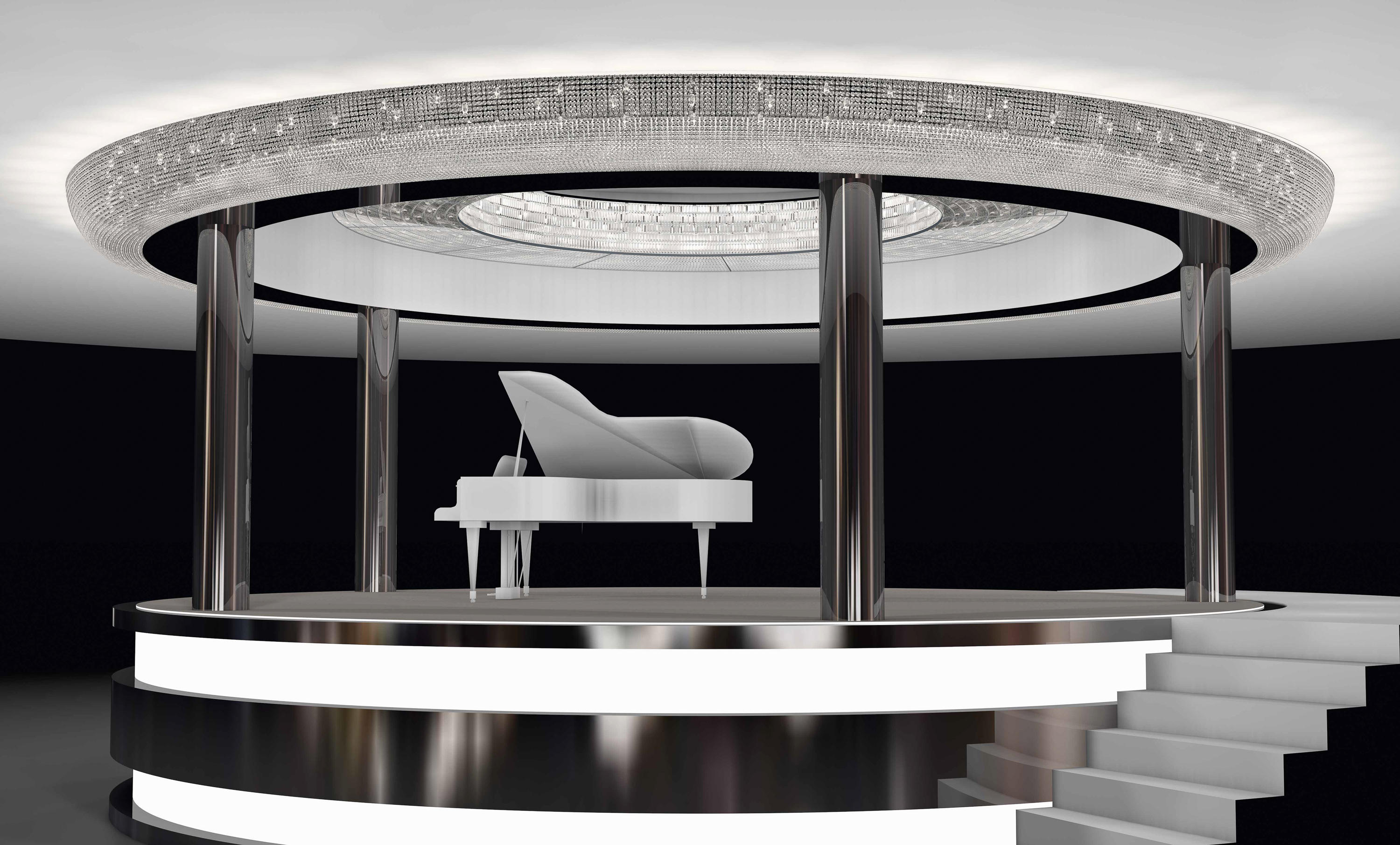 Bespoke chandelier piano bar chandeliers from windfall architonic bespoke chandelier piano bar by windfall chandeliers arubaitofo Choice Image