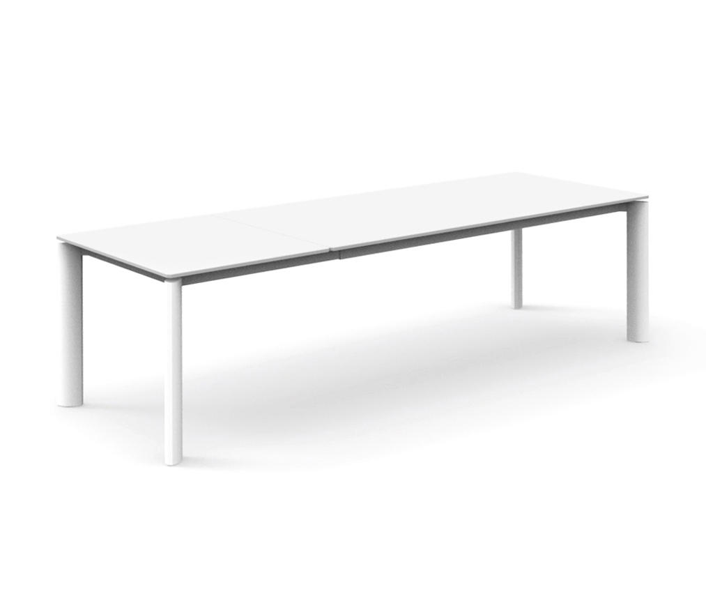 Milo extending alu dining table 200x100 dining tables for Table 200x100