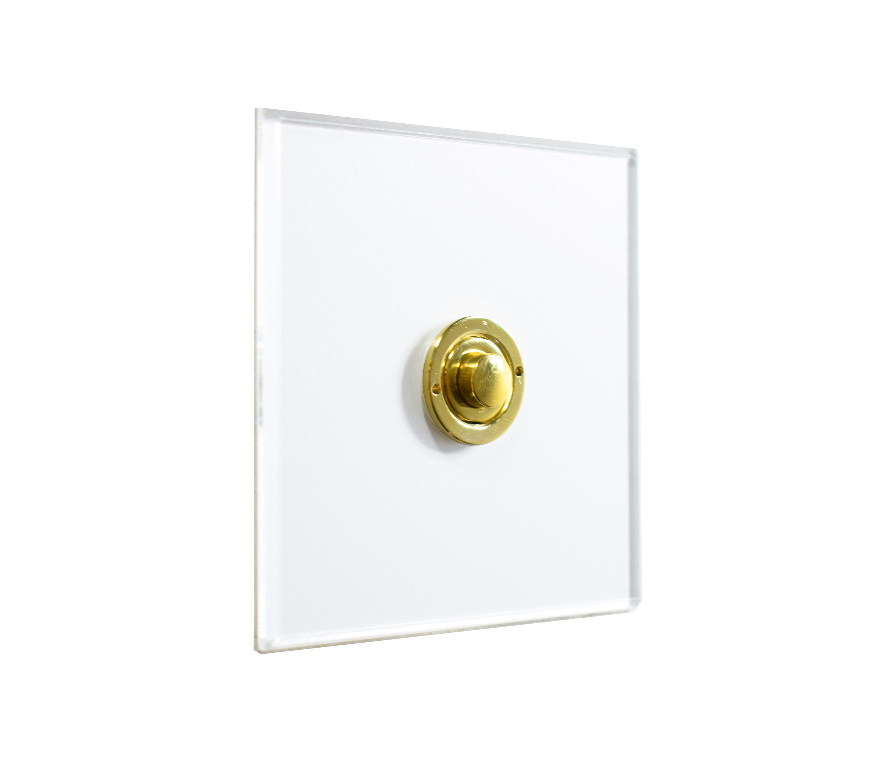 invisible lightswitch u00ae with unlacquered brass button