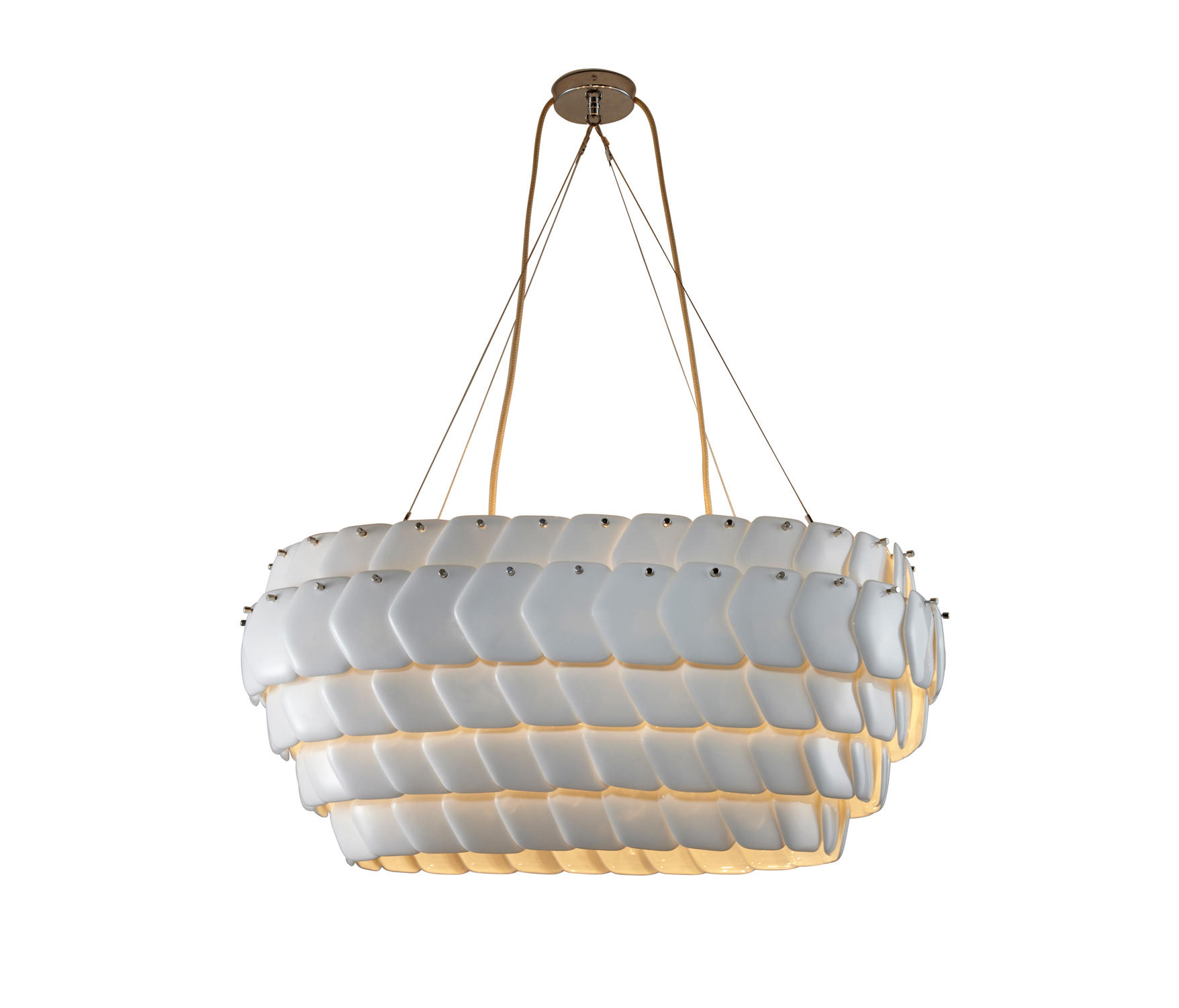 Cranton Oval Pendant Sand And Taupe Braided Cable