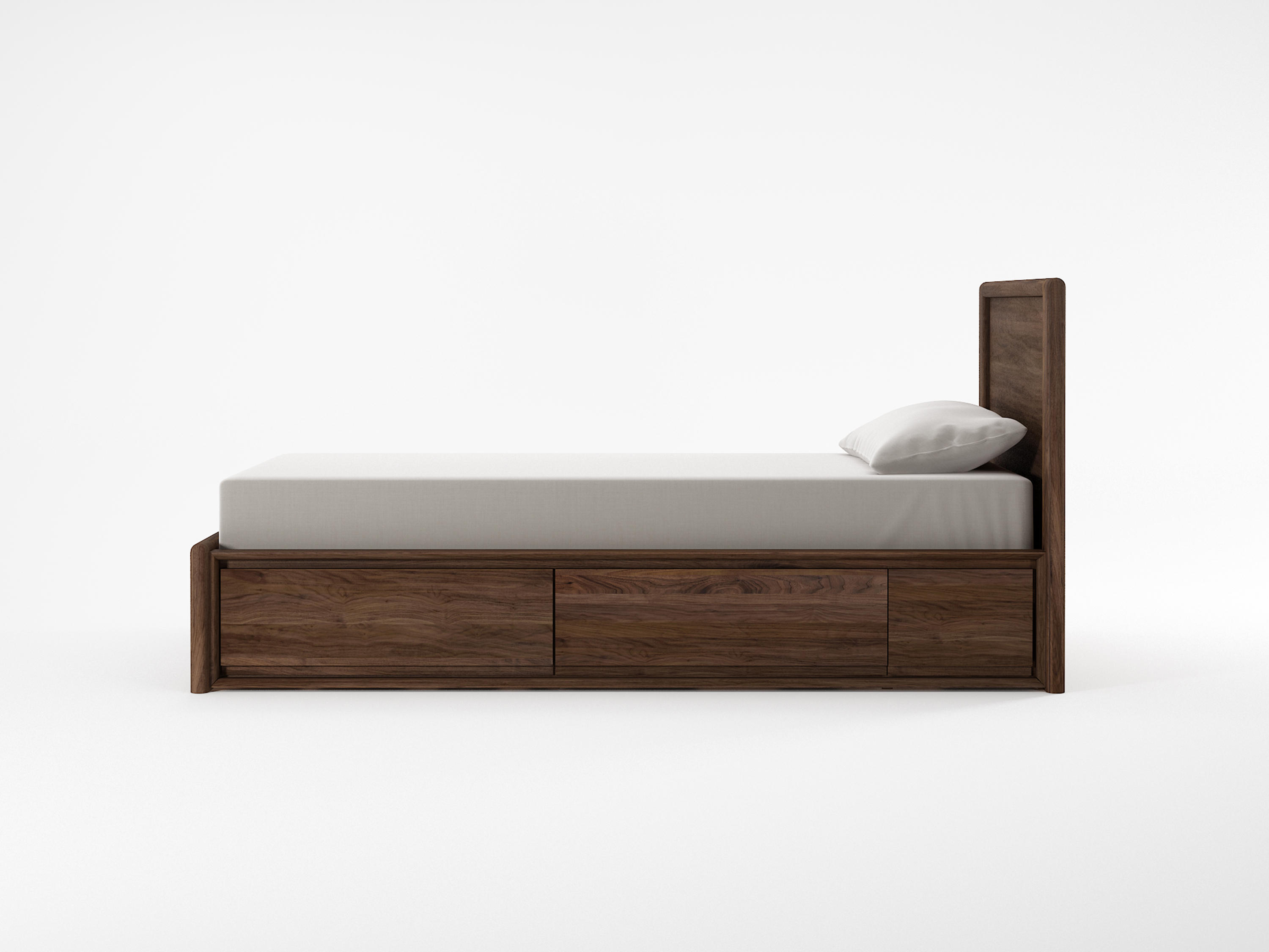 Circa17 single size bed solid headboard single beds from for Single bed headboards