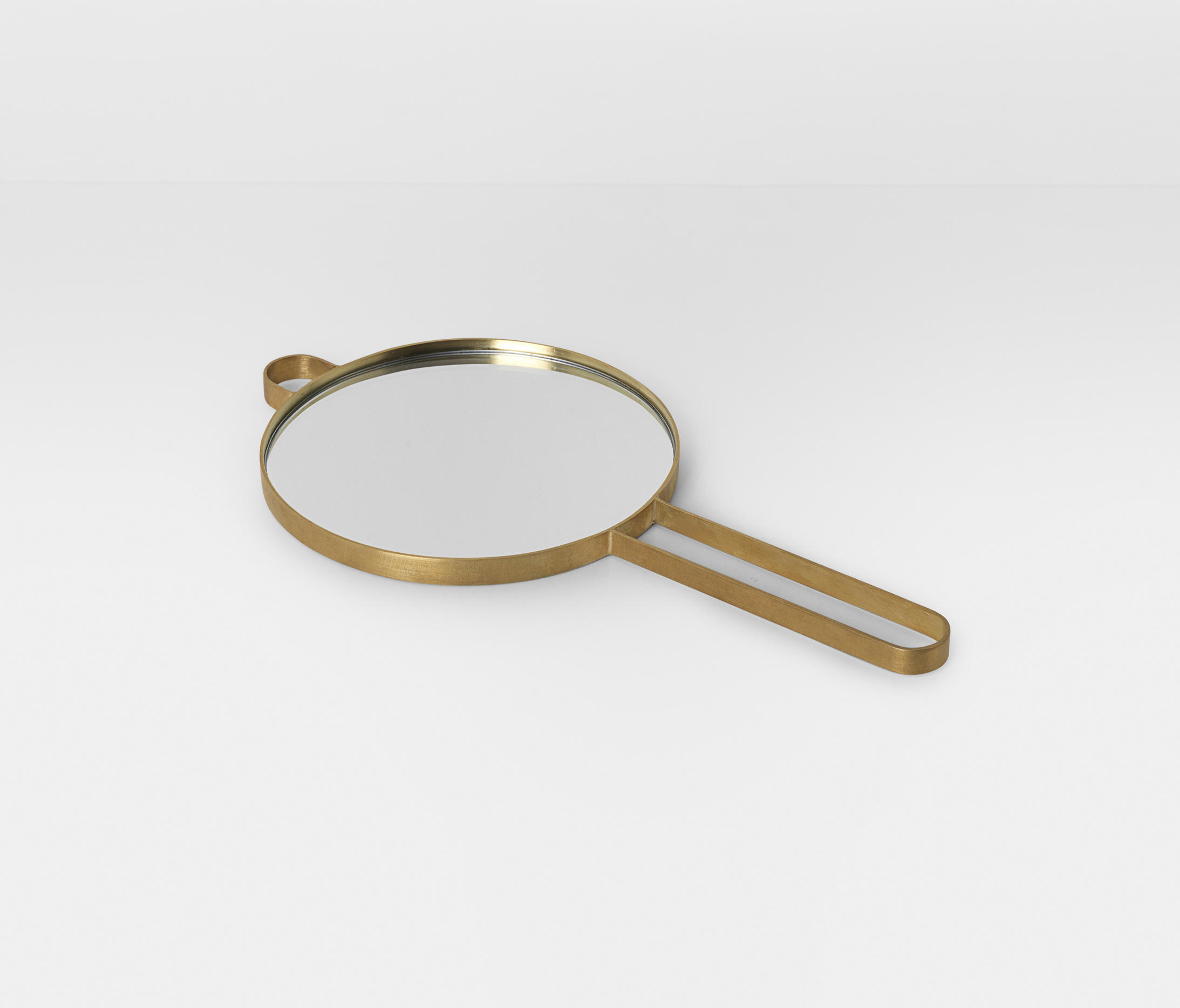 Poise Hand Mirror   Brass By Ferm LIVING | Mirrors