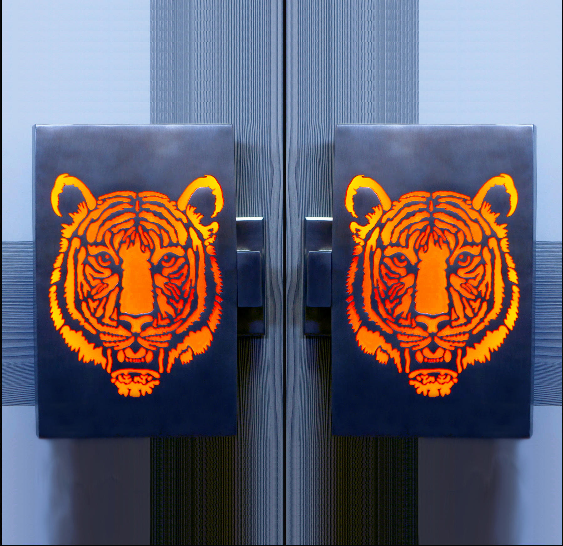 Tiger Illuminated Door Handles by Martin Pierce Hardware | Pull handles & TIGER ILLUMINATED DOOR HANDLES - Pull handles from Martin Pierce ...