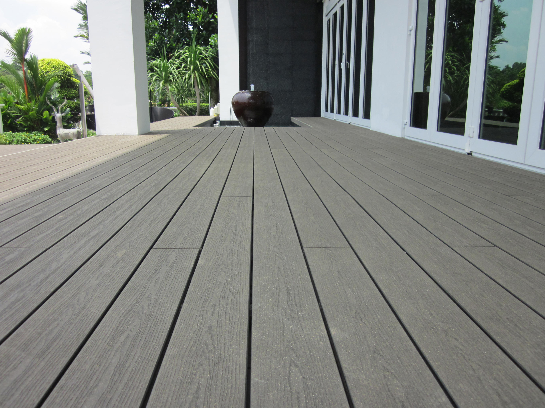Elegance Embossed Decking Board Anthracite Grey