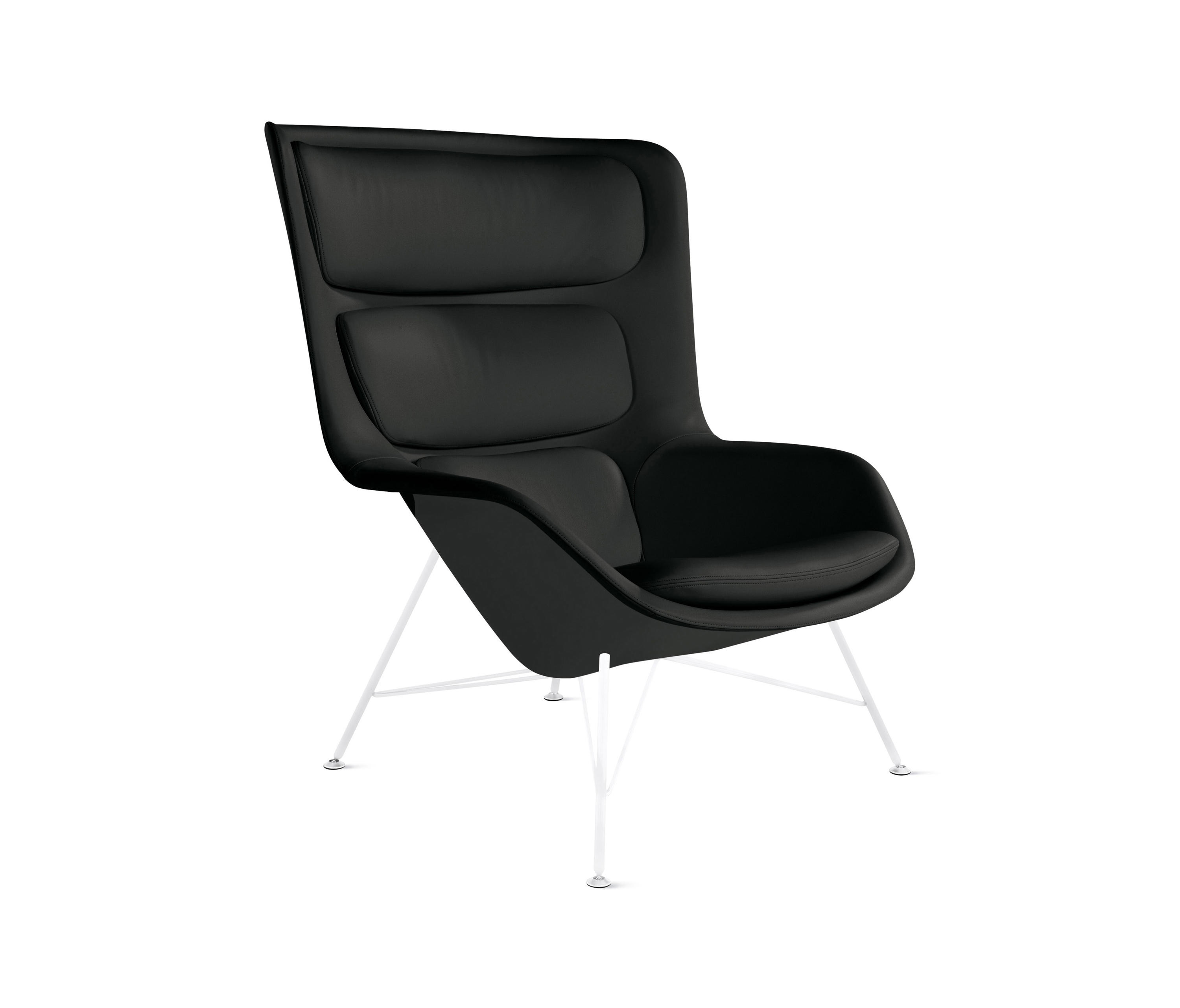 leather lounge style black mg chair st danish modern