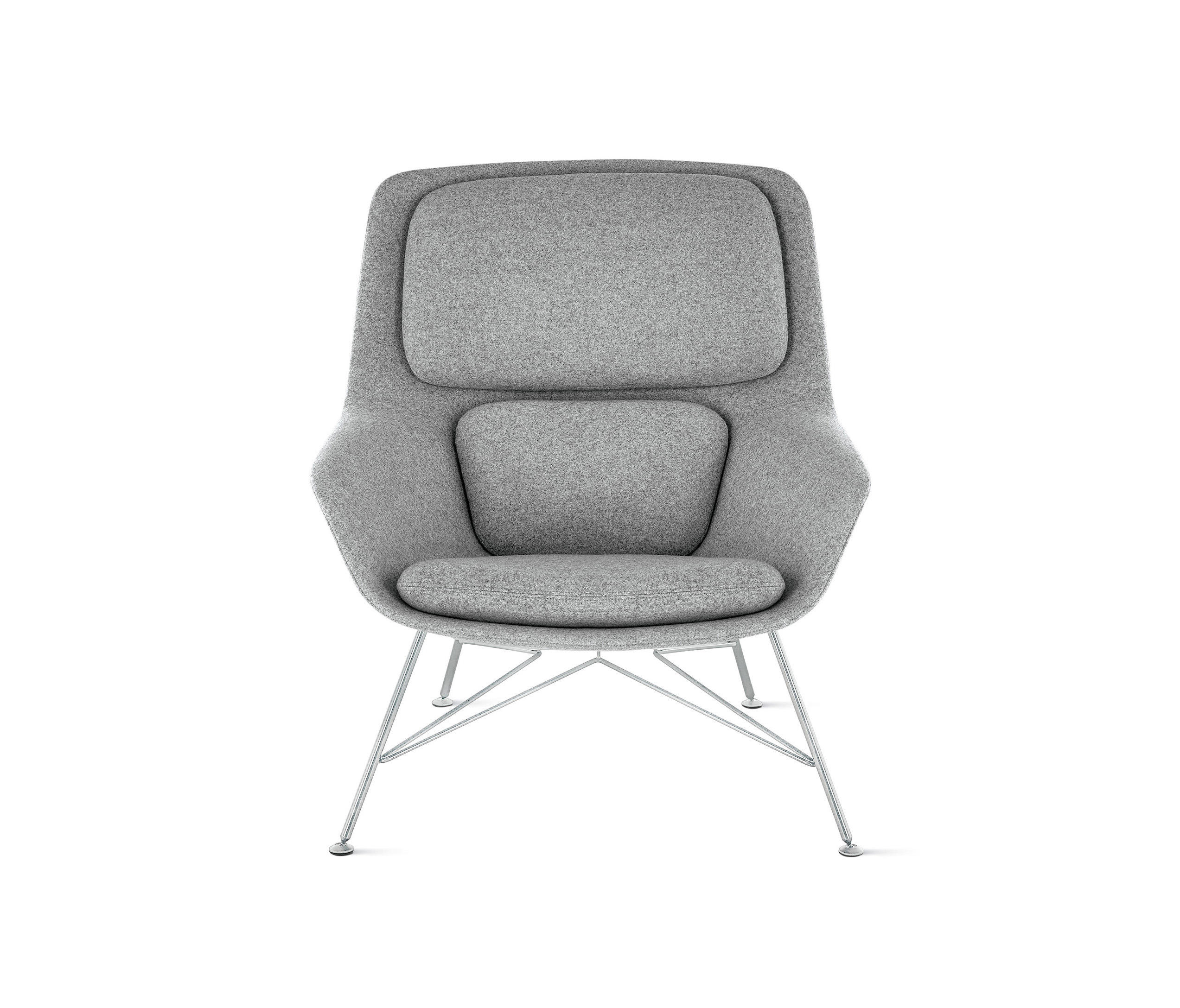 Striad Mid Back Lounge Chair Lounge Chairs From Design