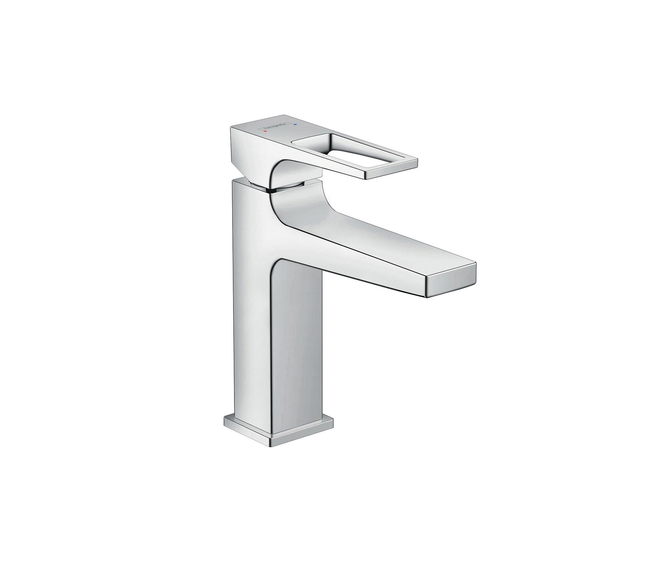hansgrohe metropol single lever basin mixer 110 with loop handle and push open waste set wash. Black Bedroom Furniture Sets. Home Design Ideas