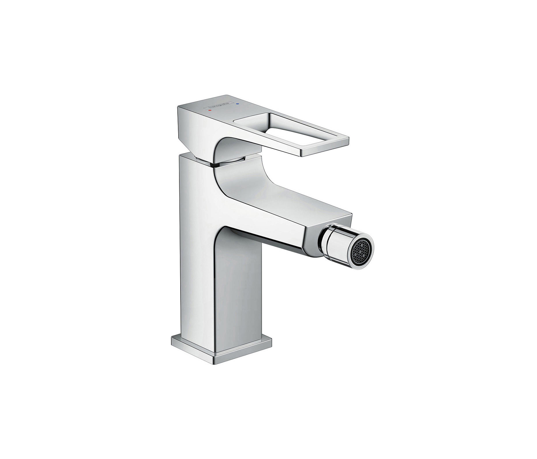 hansgrohe metropol single lever bidet mixer with loop handle and push open waste set wash basin. Black Bedroom Furniture Sets. Home Design Ideas