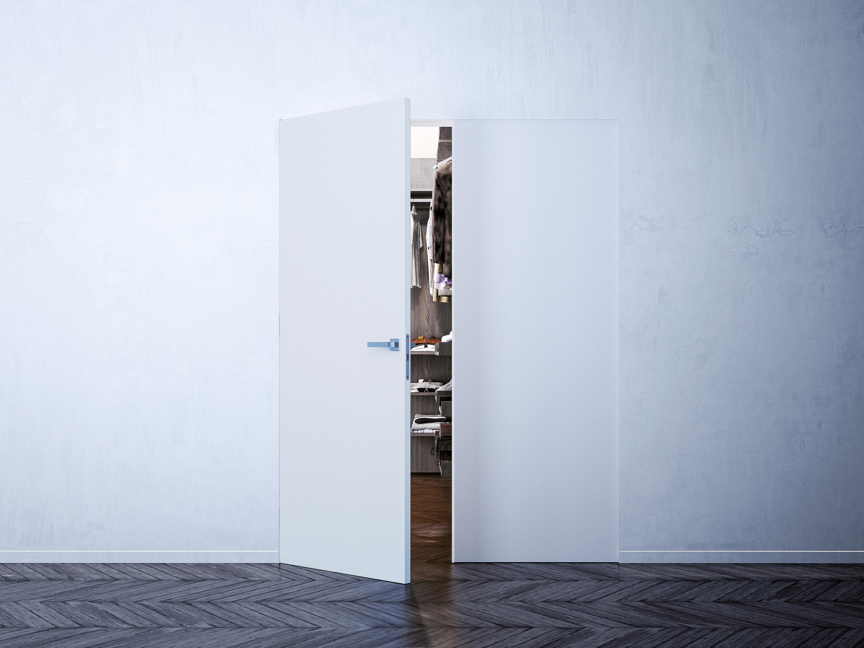 Syntesis Line Battente Double Internal Doors From Eclisse