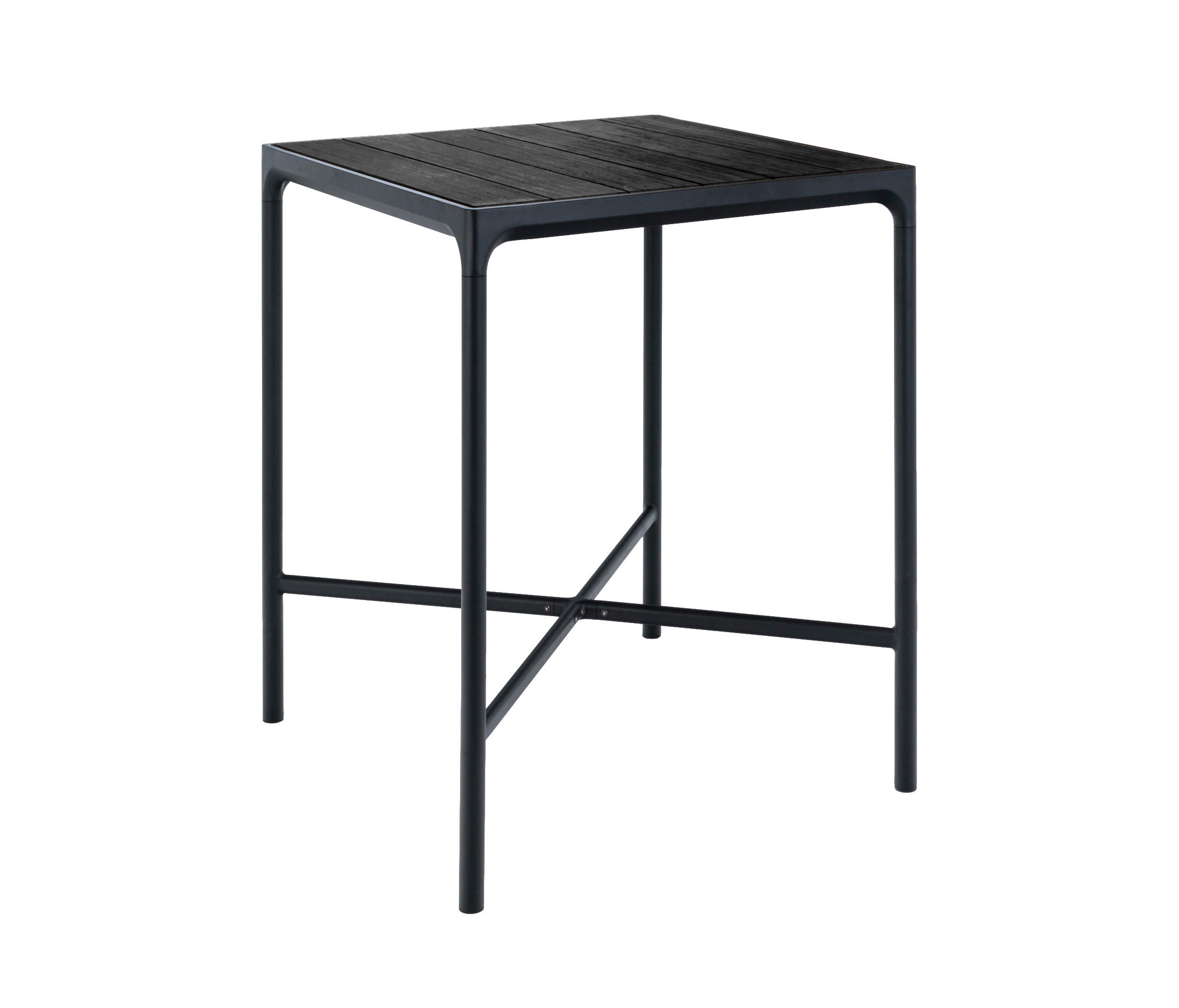 four bar table 90x90 aluminum standing tables from houe architonic. Black Bedroom Furniture Sets. Home Design Ideas