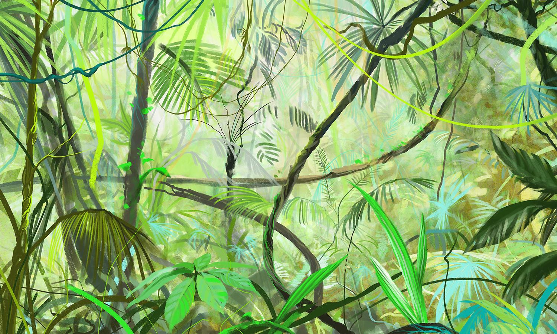 Jungle carta da parati carta da parati wallpepper for Produttori carta da parati