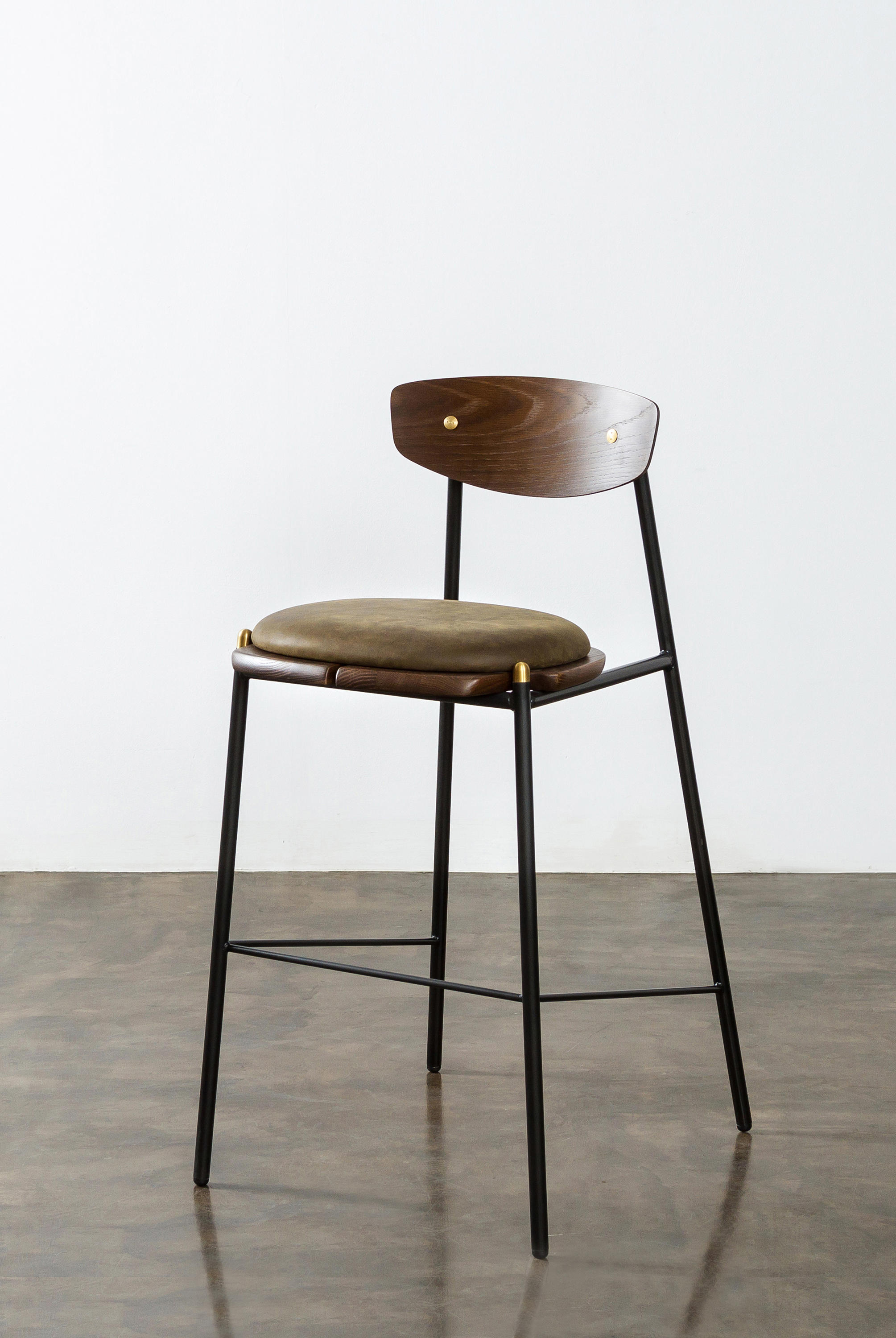 Kink Bar Stool Leather Cushion Bar Stools From District