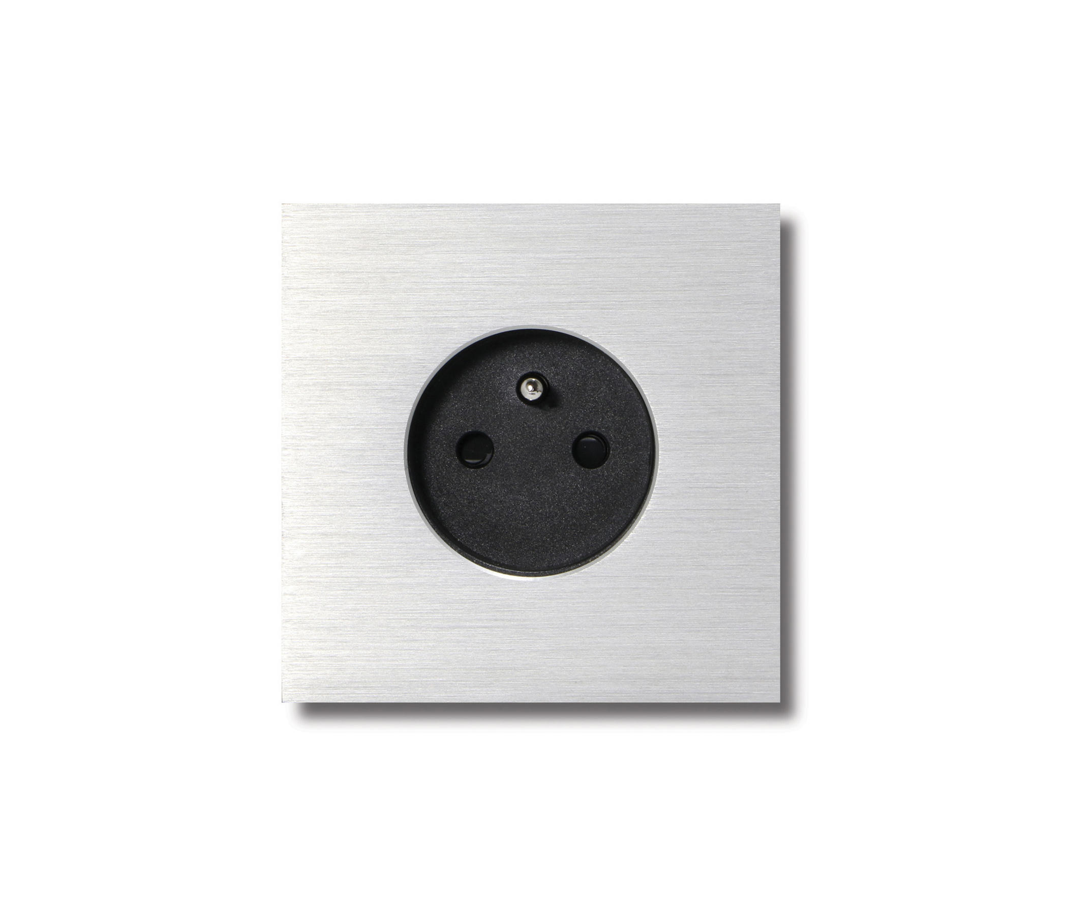 POWER OUTLET - BRUSHED ALUMINIUM - 1-GANG - Schuko sockets from ...
