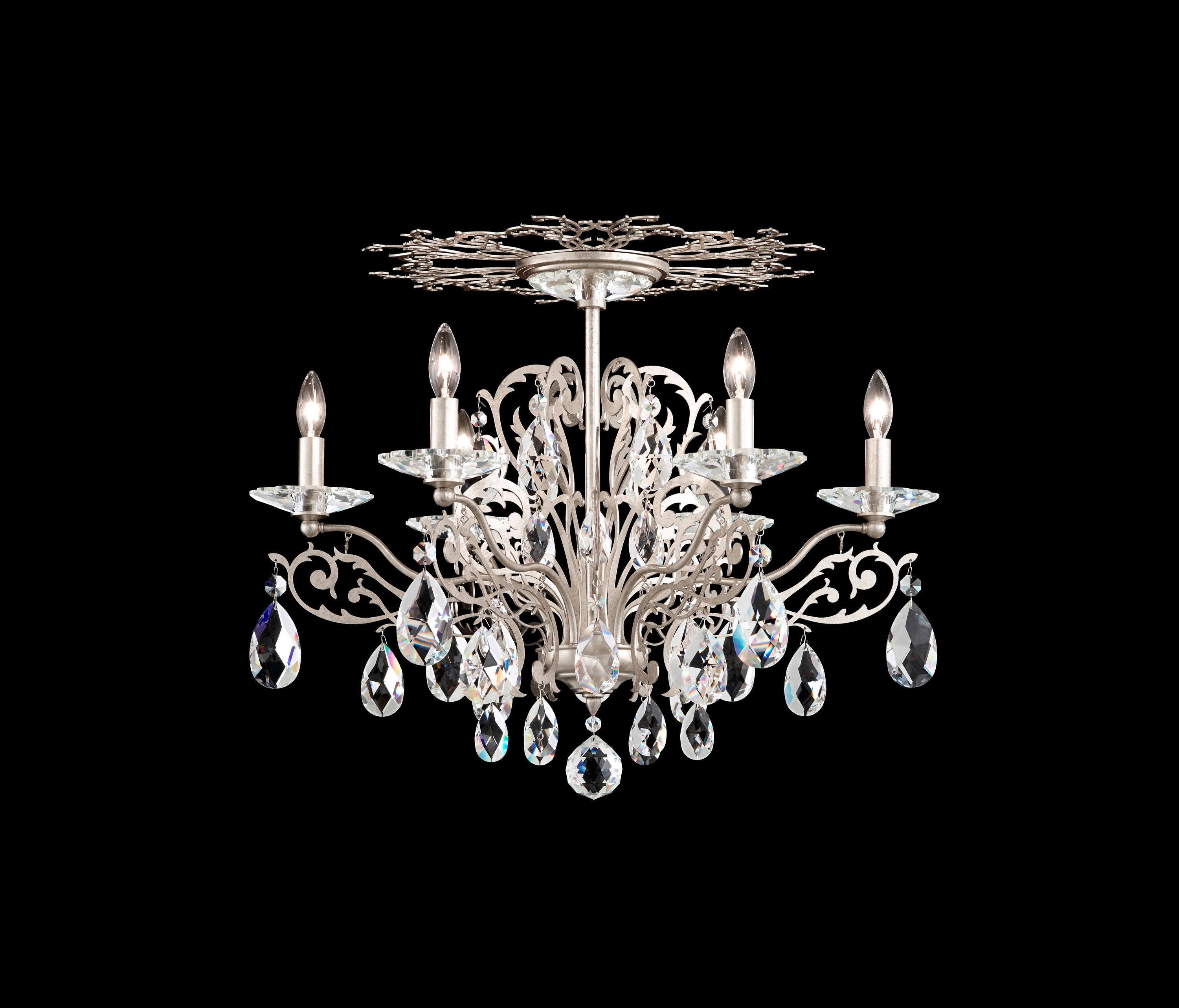 chandelier pin chrome crystal in finish metal chandeliers with elements swarovski pendants carved