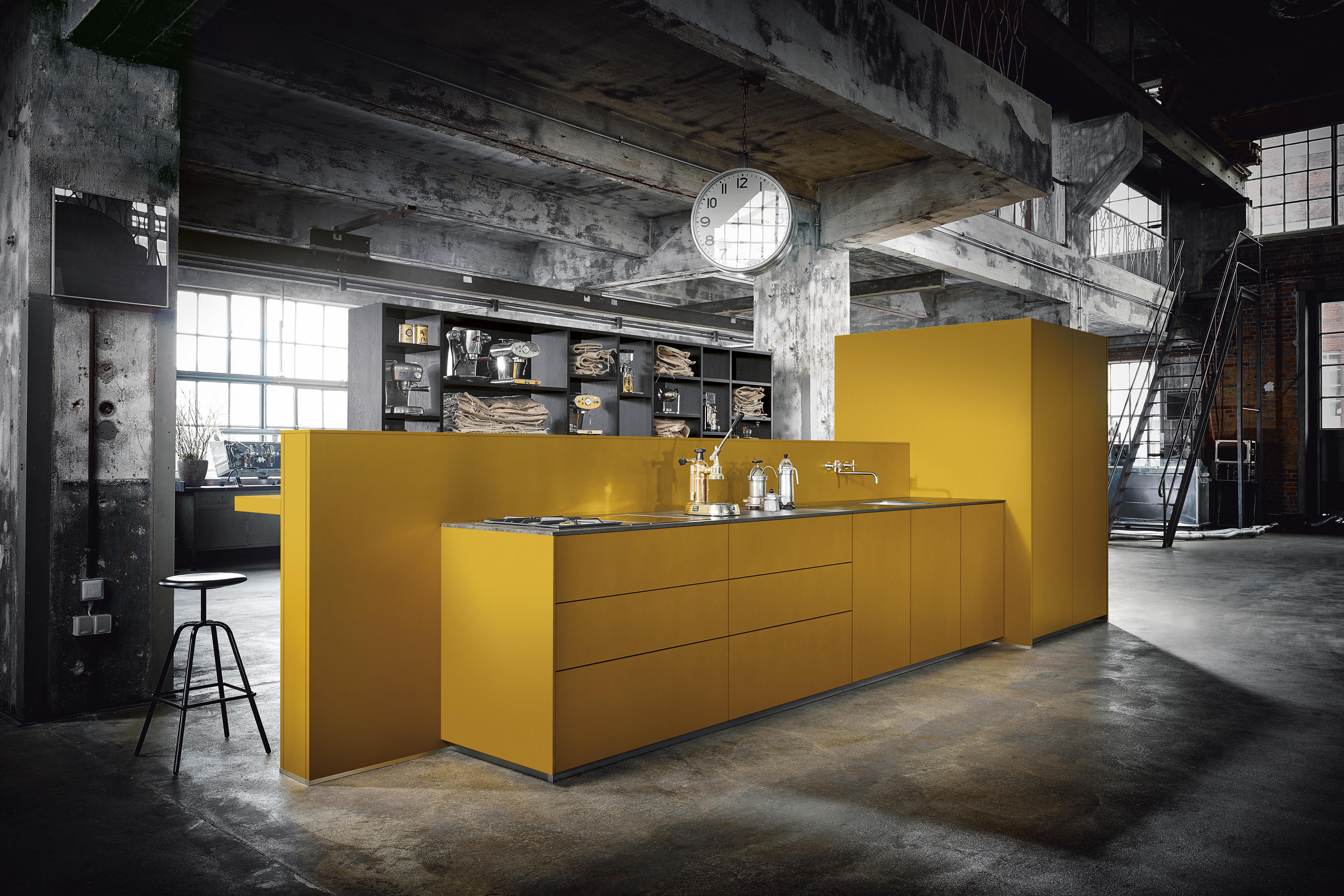 Nx 500 Saffron Yellow Satin Fitted Kitchens From Next125 Architonic