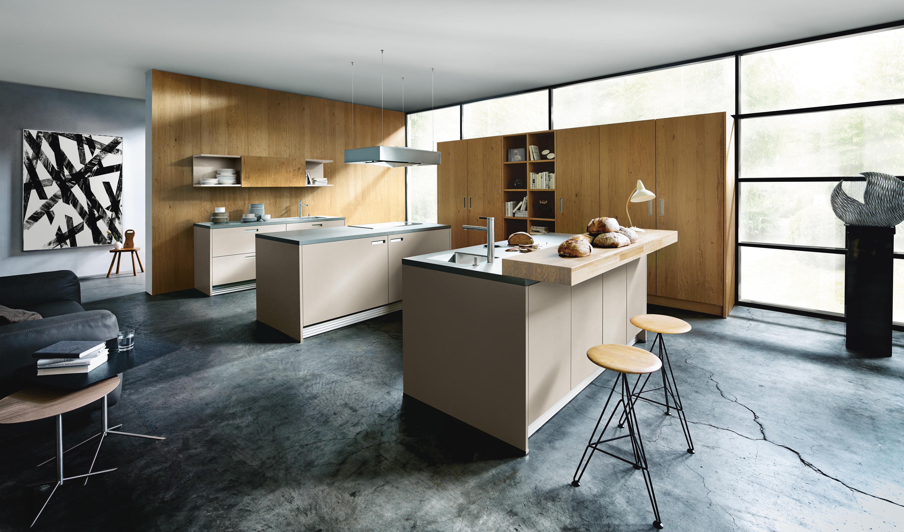 NX 510 Sand Grey Matt Velvet By Next125 | Fitted Kitchens ...