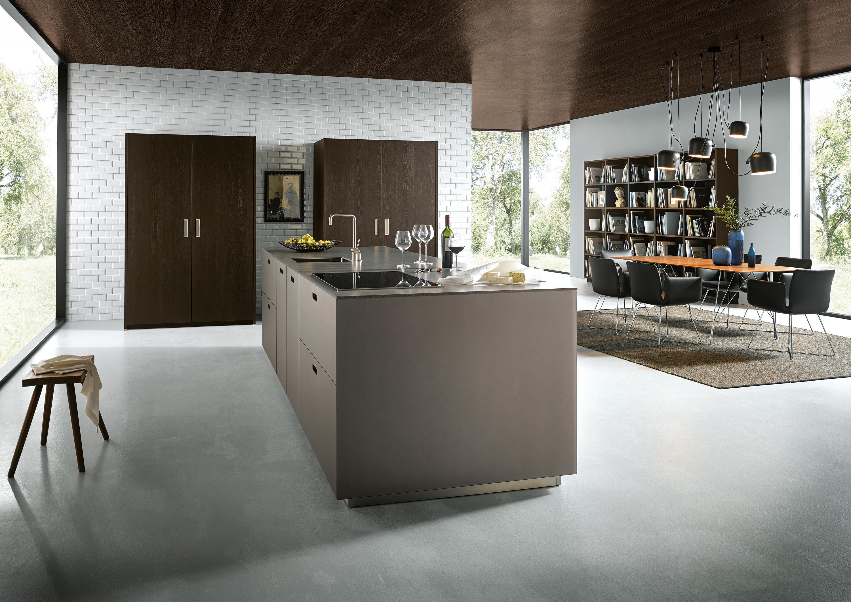 Nx 902 Glass Matt Platinum Metallic Fitted Kitchens From Next125