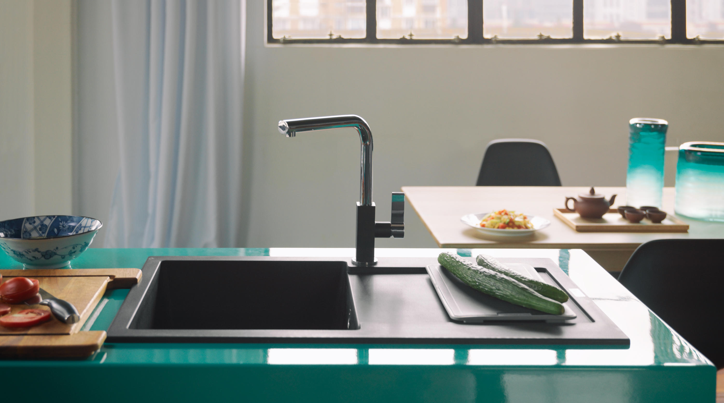 MARIS TAP PULL OUT L VERSION CHROME - Kitchen taps from Franke ...