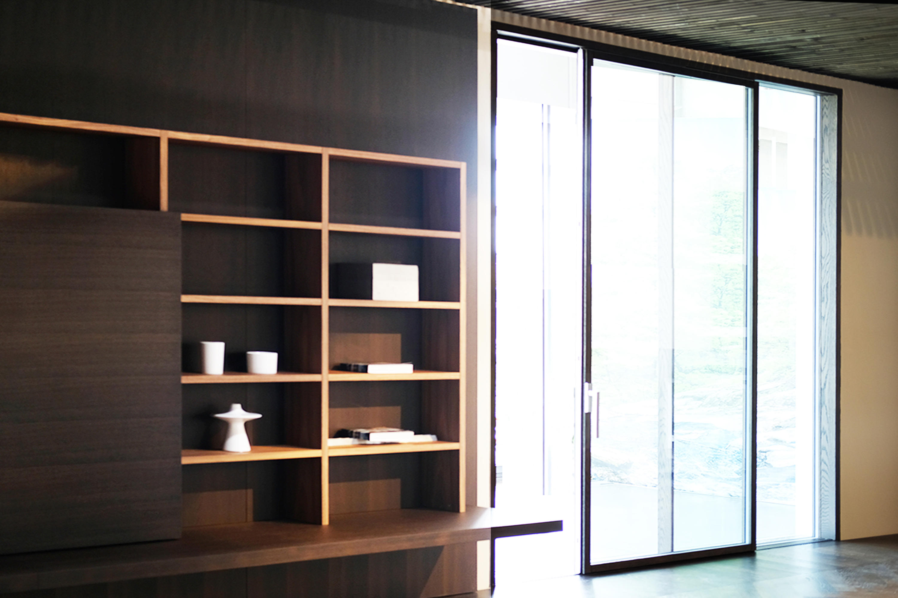 Ghost Wood minimal sliding door by ISAM | French doors ... : ghost door - pezcame.com
