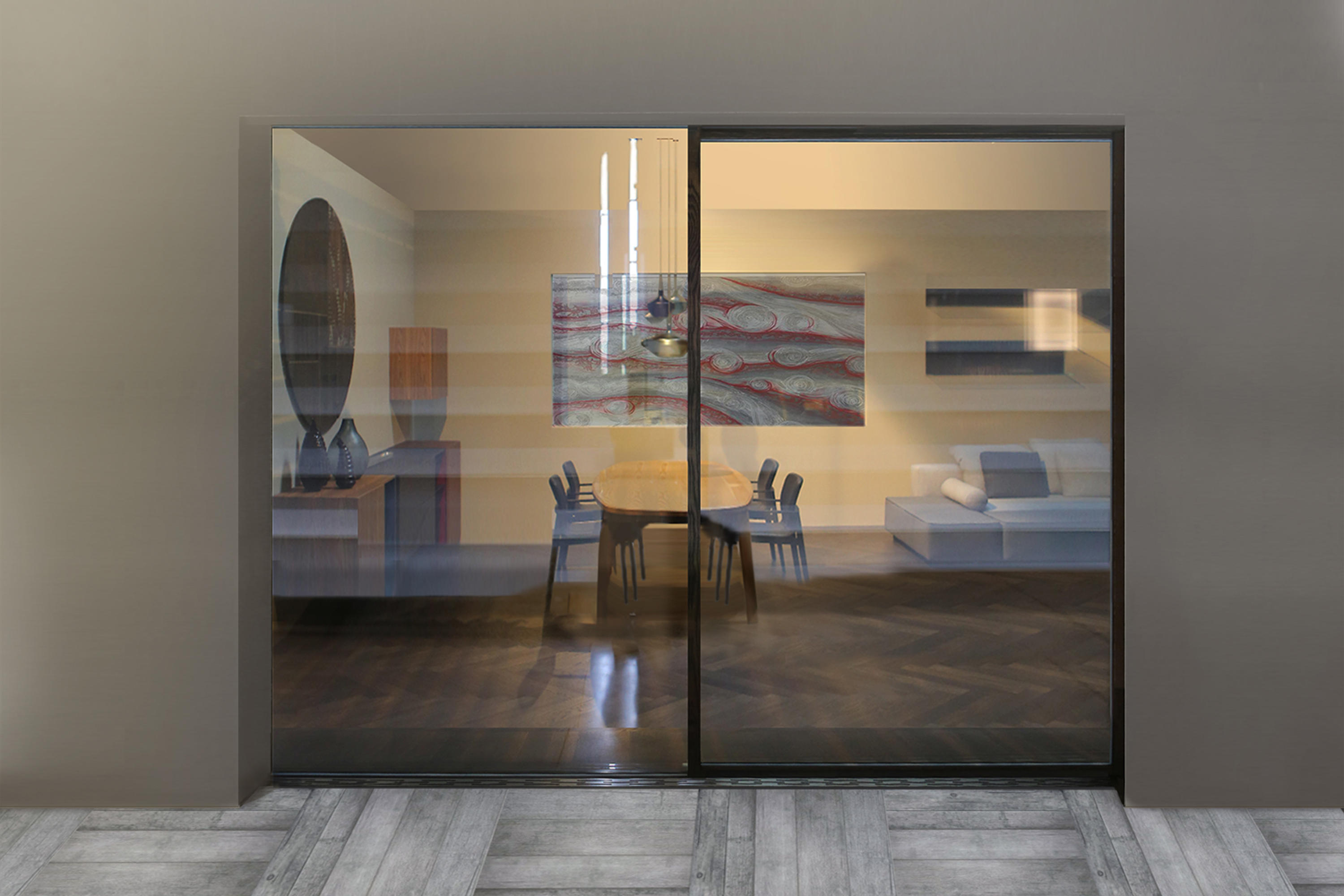 ... Ghost Wood Minimal Sliding Door By ISAM | Patio Doors ...