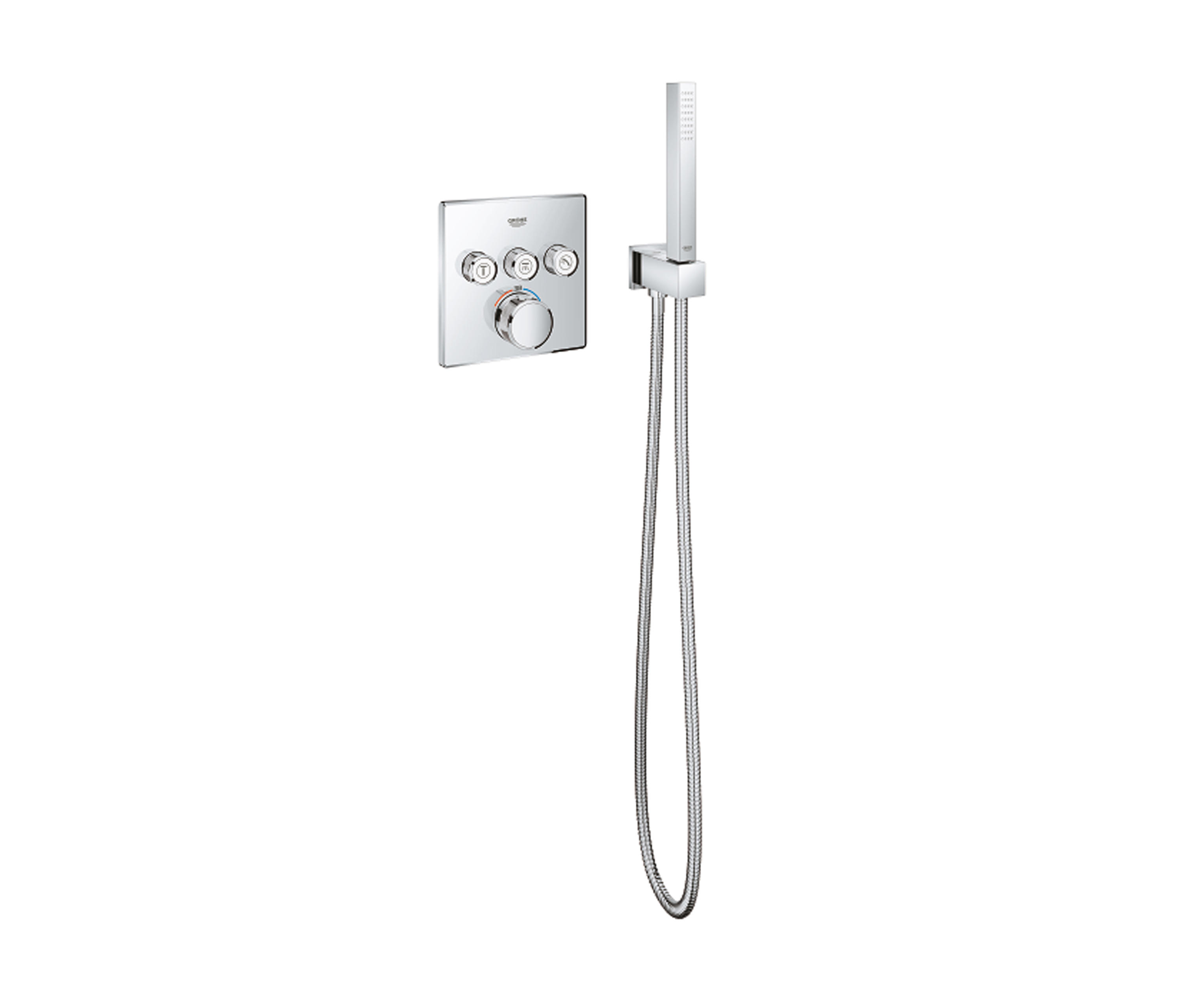 EUPHORIA CUBE STICK HAND SHOWER 1 SPRAY - Shower controls from GROHE ...