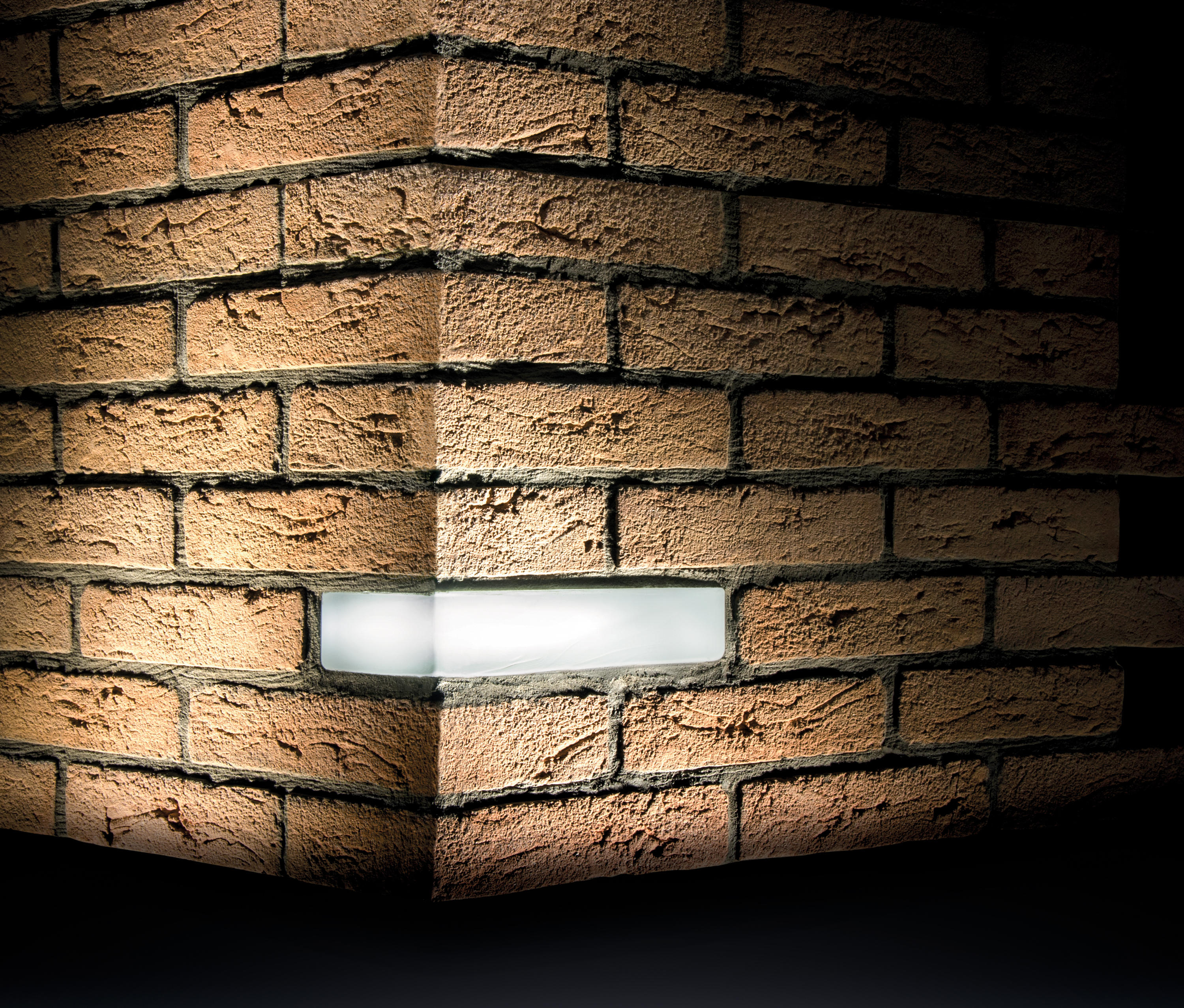 BRICK LIGHT WALL RECESSED - Outdoor recessed wall lights from Simes ...