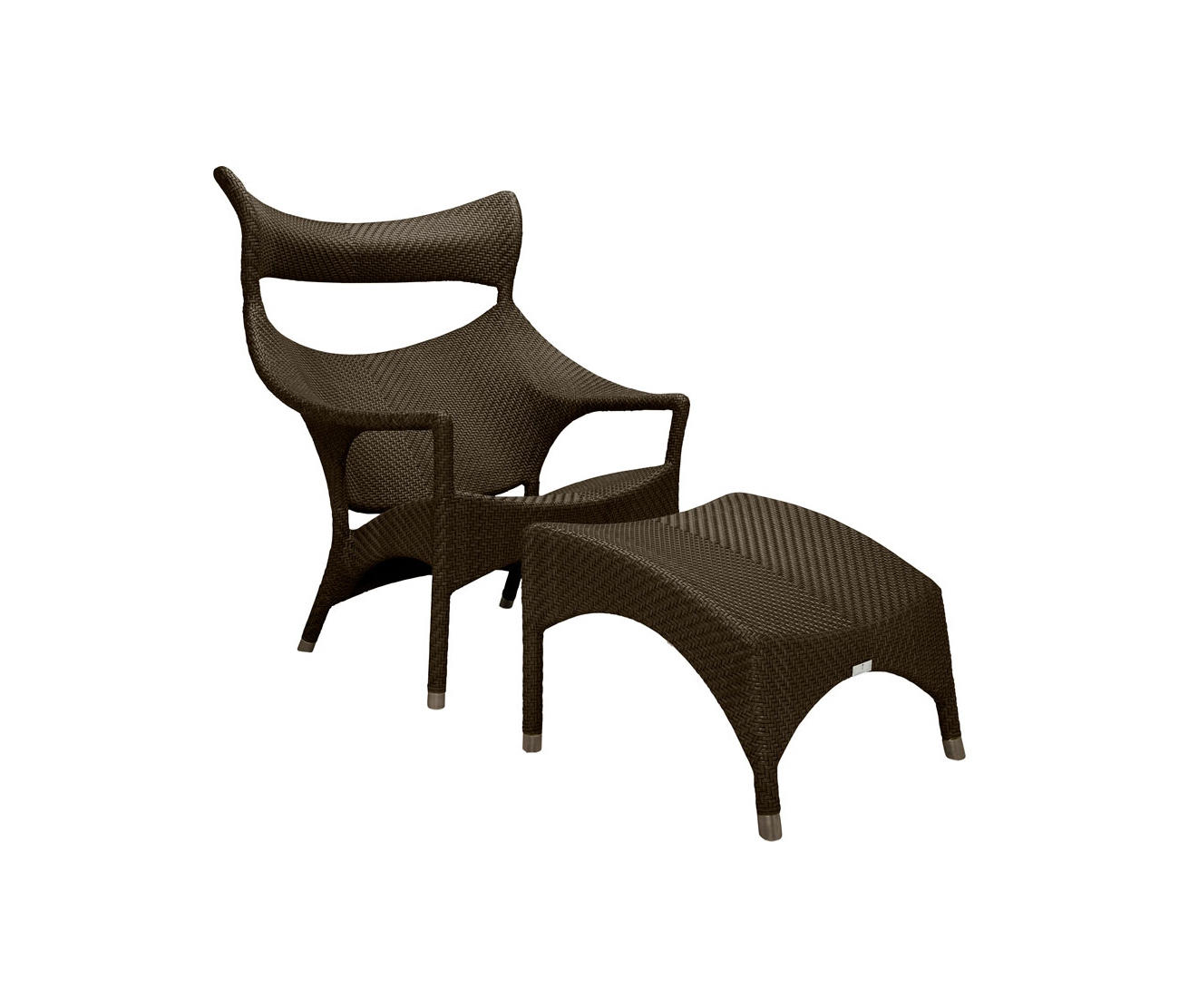 Amari High Back Lounge Chair Ottoman Armchairs From