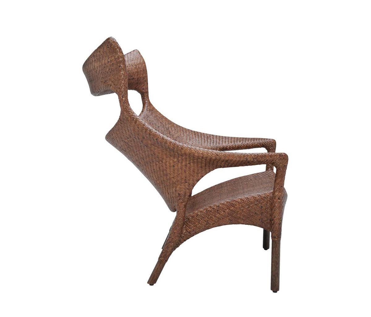 Amari Rattan High Back Lounge Chair Sillones De Janus Et