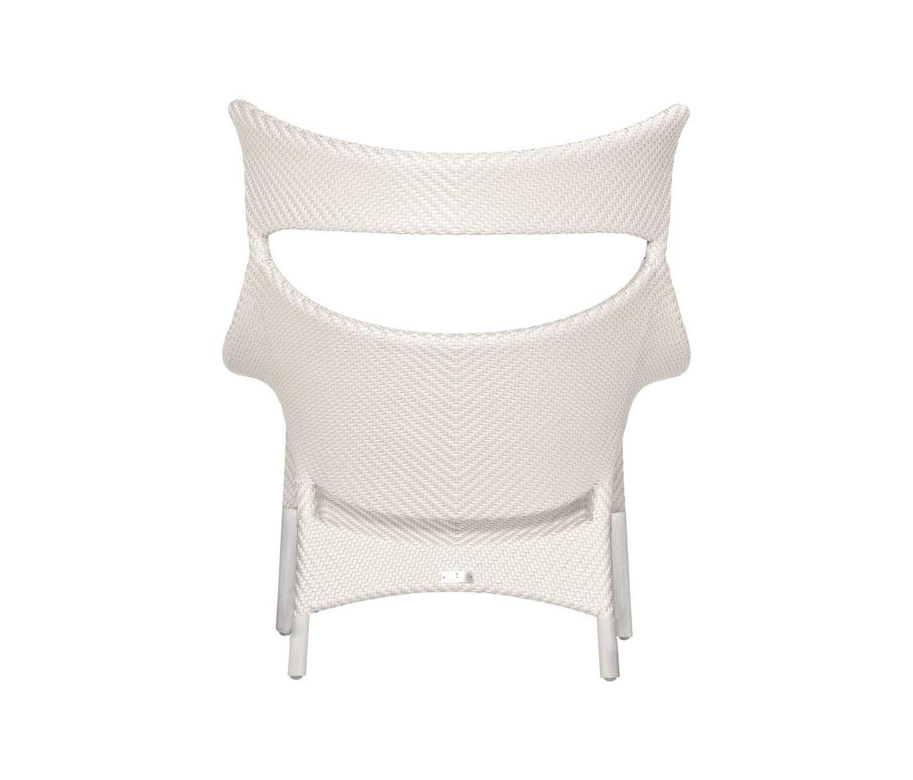 Amari Rattan High Back Lounge Chair Armchairs From Janus