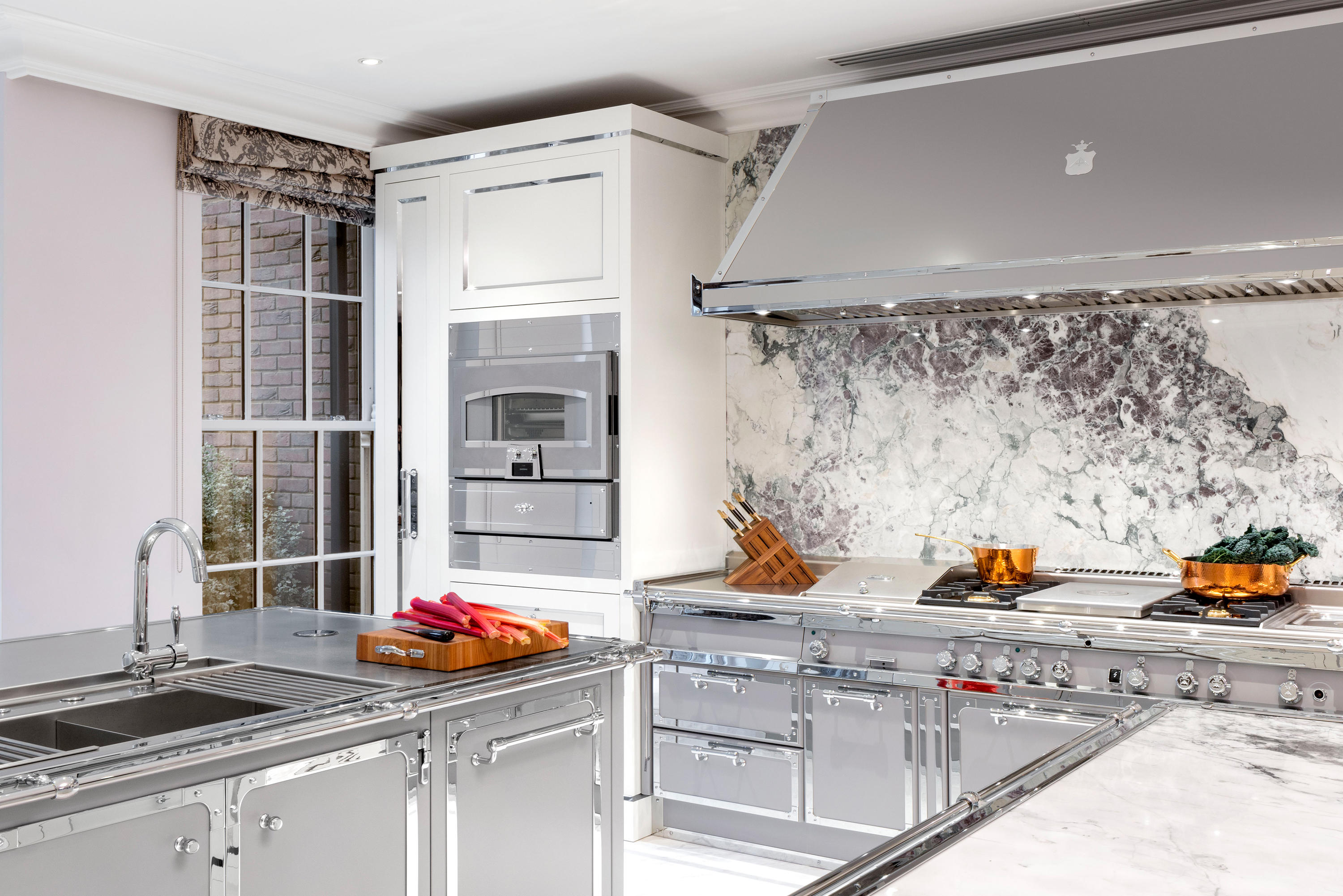 Silver Grey Polished Chrome Kitchen Fitted Kitchens From